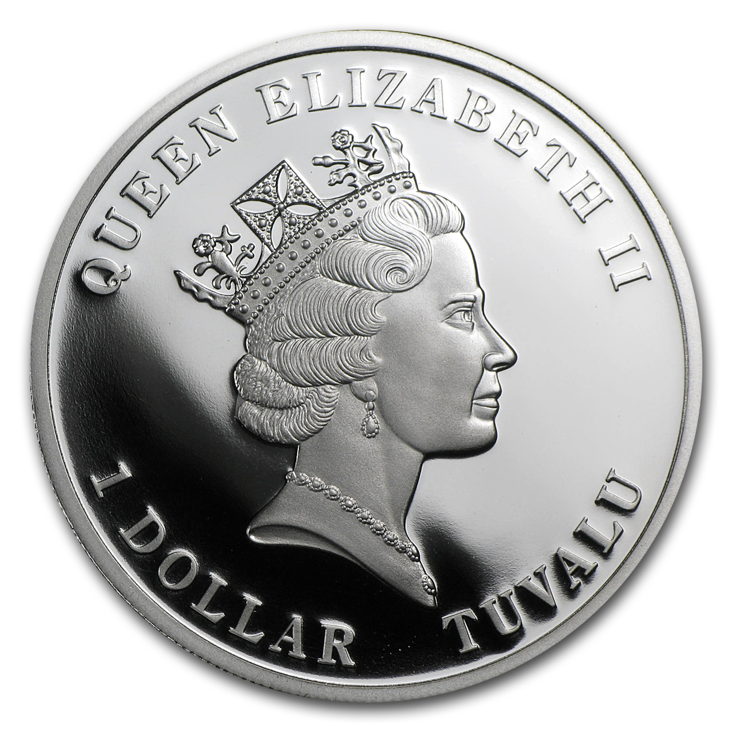 Tuvalu 2011 Proof Silver $1 Coral Protection - Pillar Coral