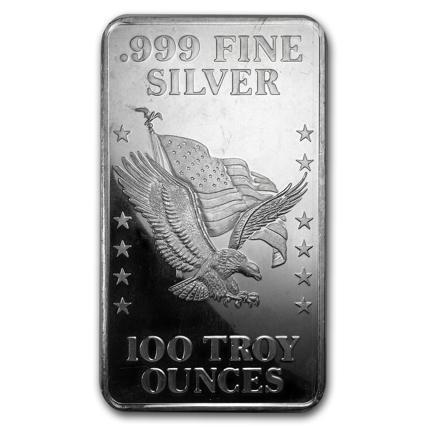 100 oz Silver Bar - U.S. Assay Office (Pressed)