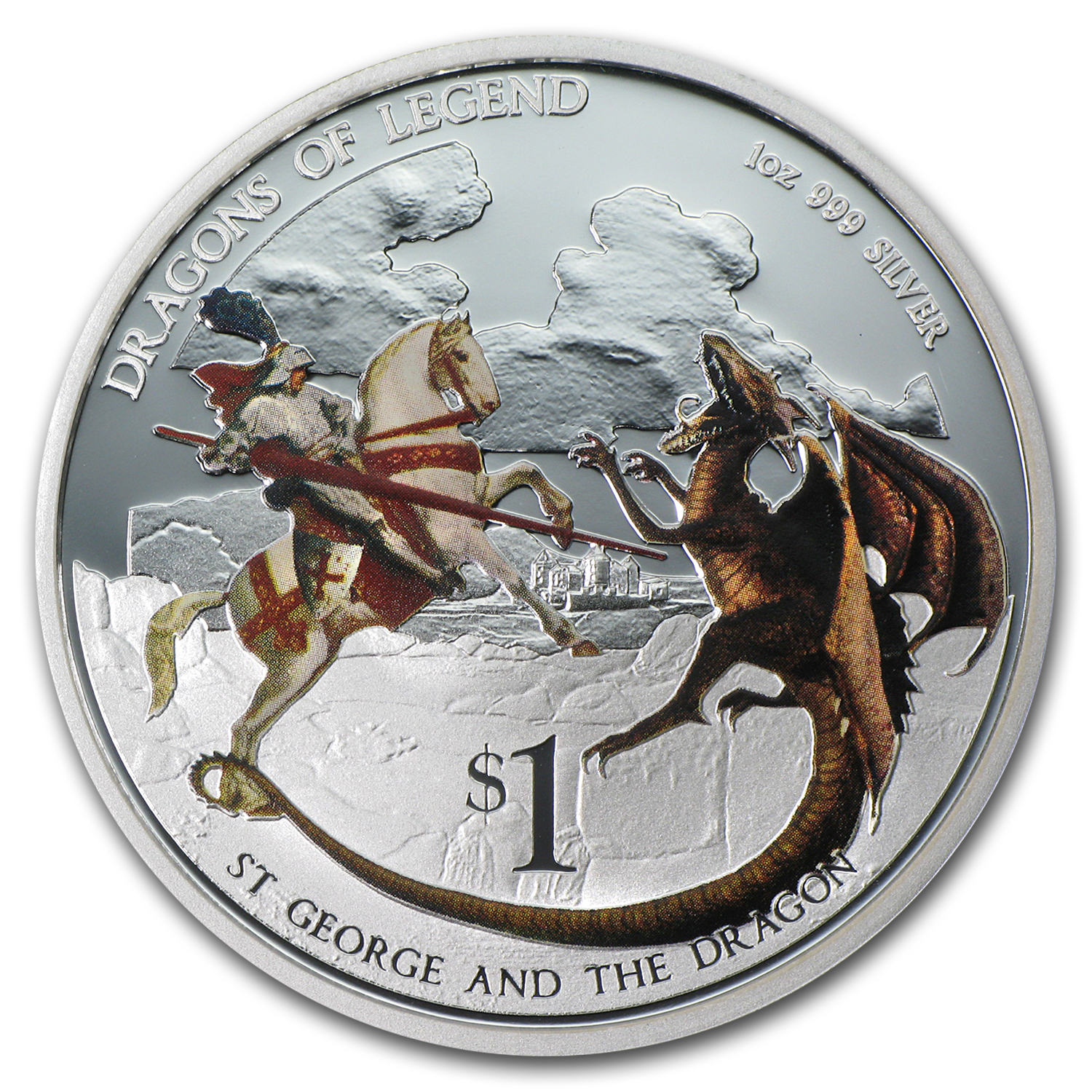 2012 1 oz Silver Dragons of Legend Proof (St George & the Dragon)