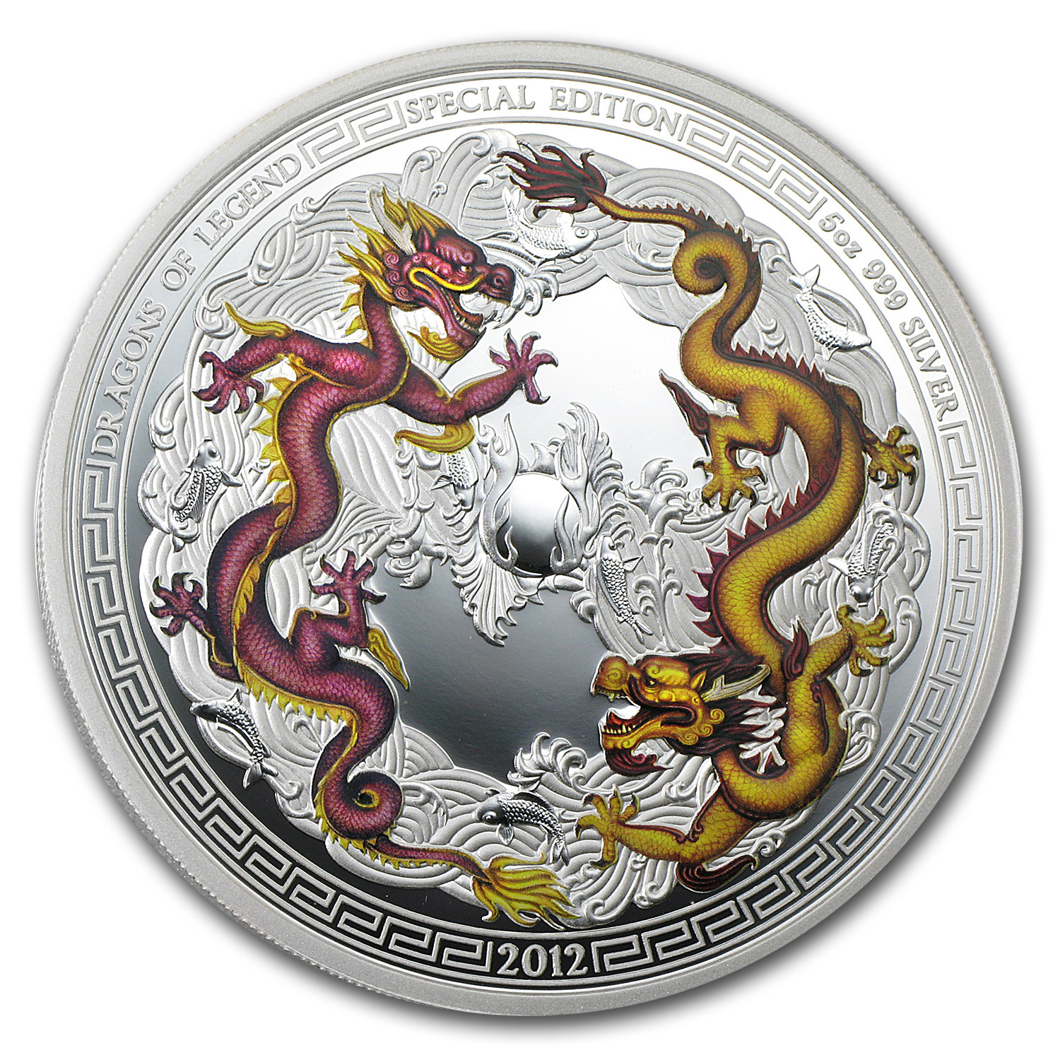 2012 5 oz Proof Silver Dragons of Legend -Special Year of Dragon