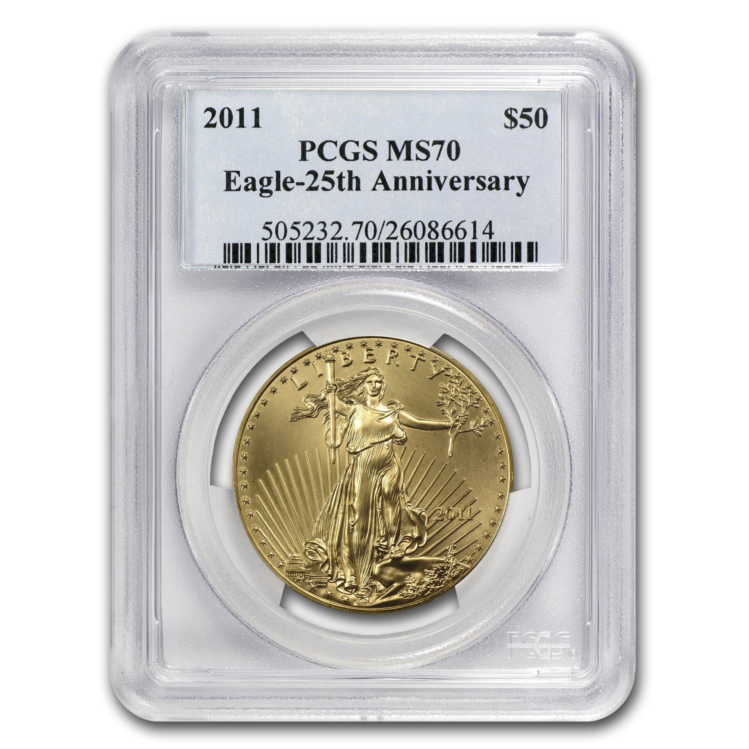 2011 1 oz Gold American Eagle MS-70 PCGS