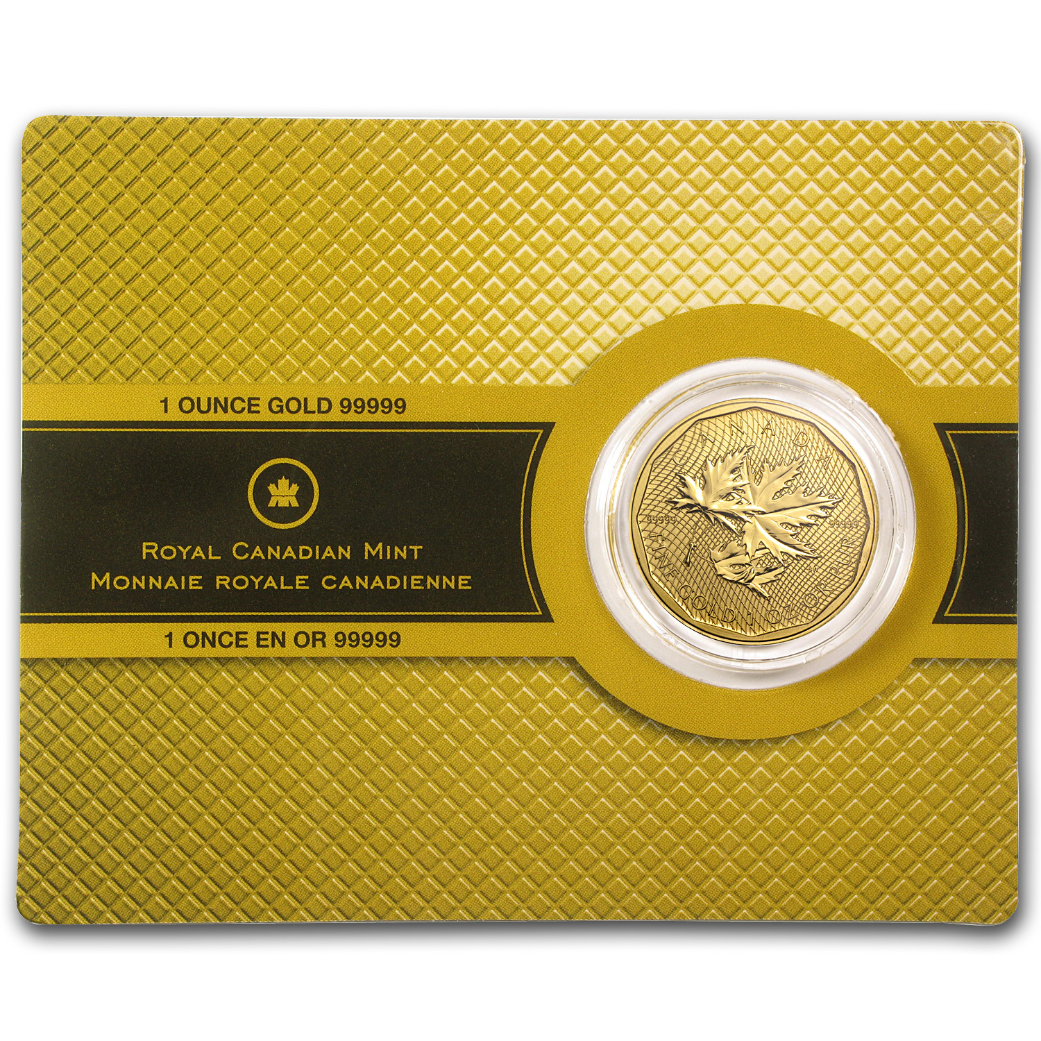 2012 Canada 1 oz Gold Maple Leaf .99999 BU (w/Assay Card)