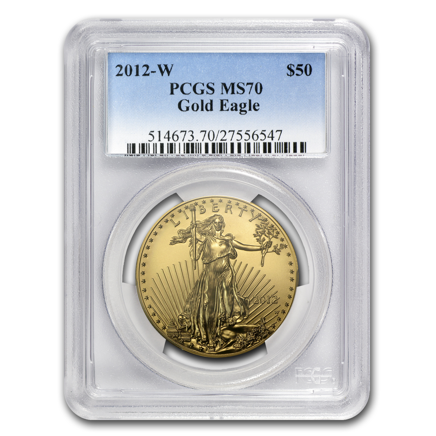 2012-W 1 oz Burnished Gold Eagle MS-70 PCGS
