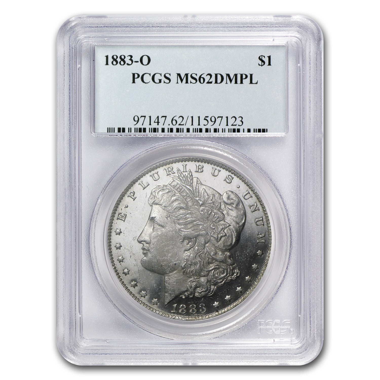 1883-O Morgan Dollar MS-62 DMPL PCGS