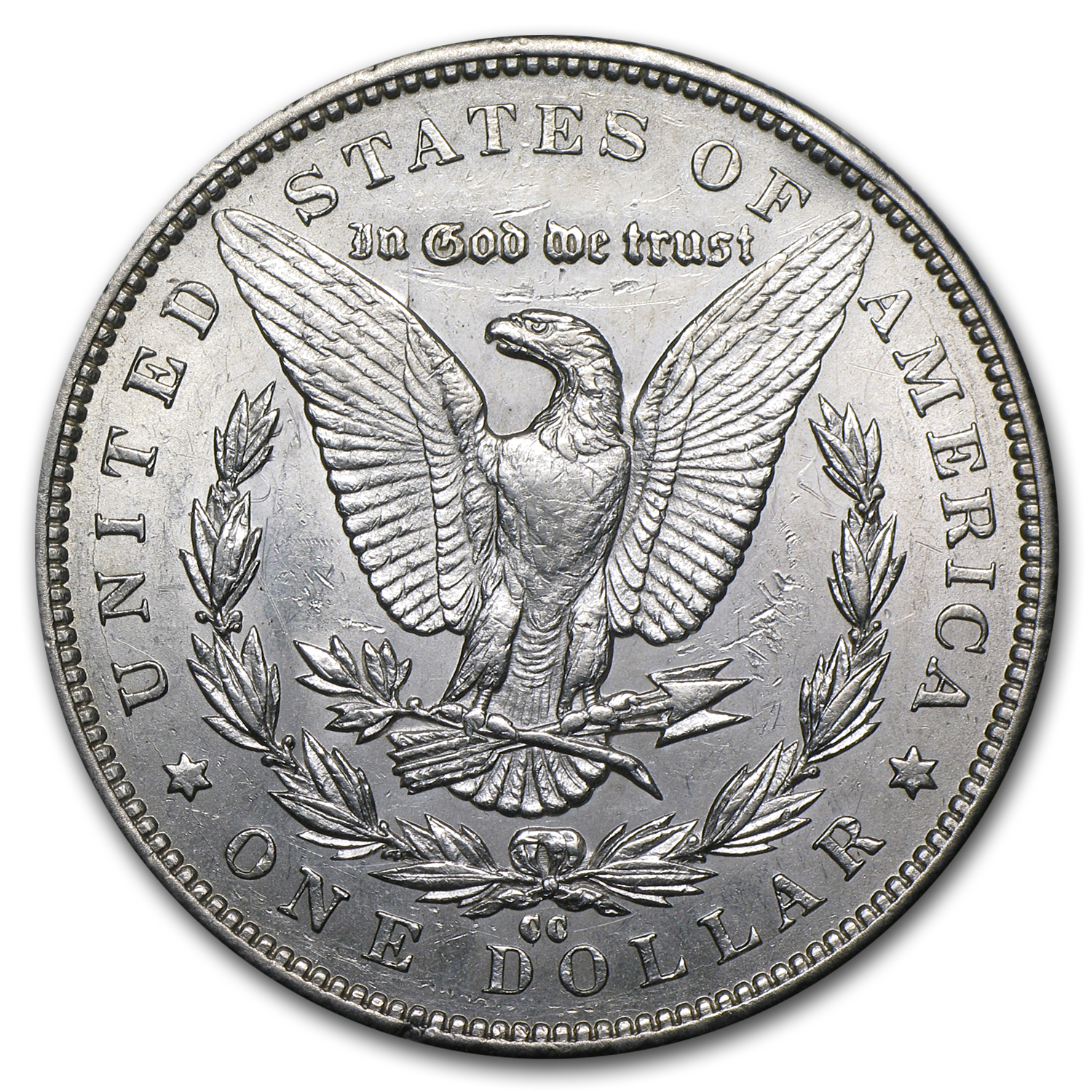 1892-CC Morgan Dollar AU-58