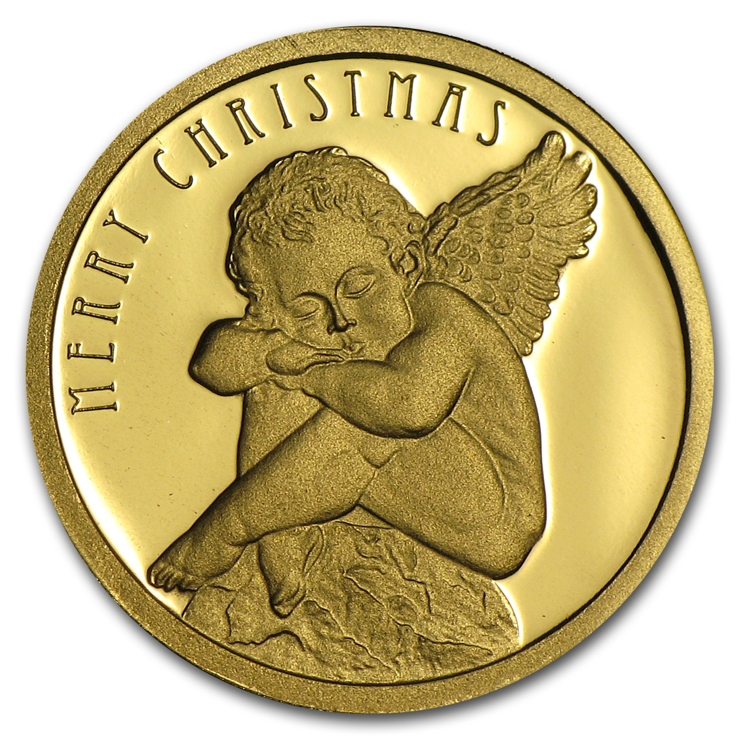 Cook Islands Gold $10 Christmas Angel Proof