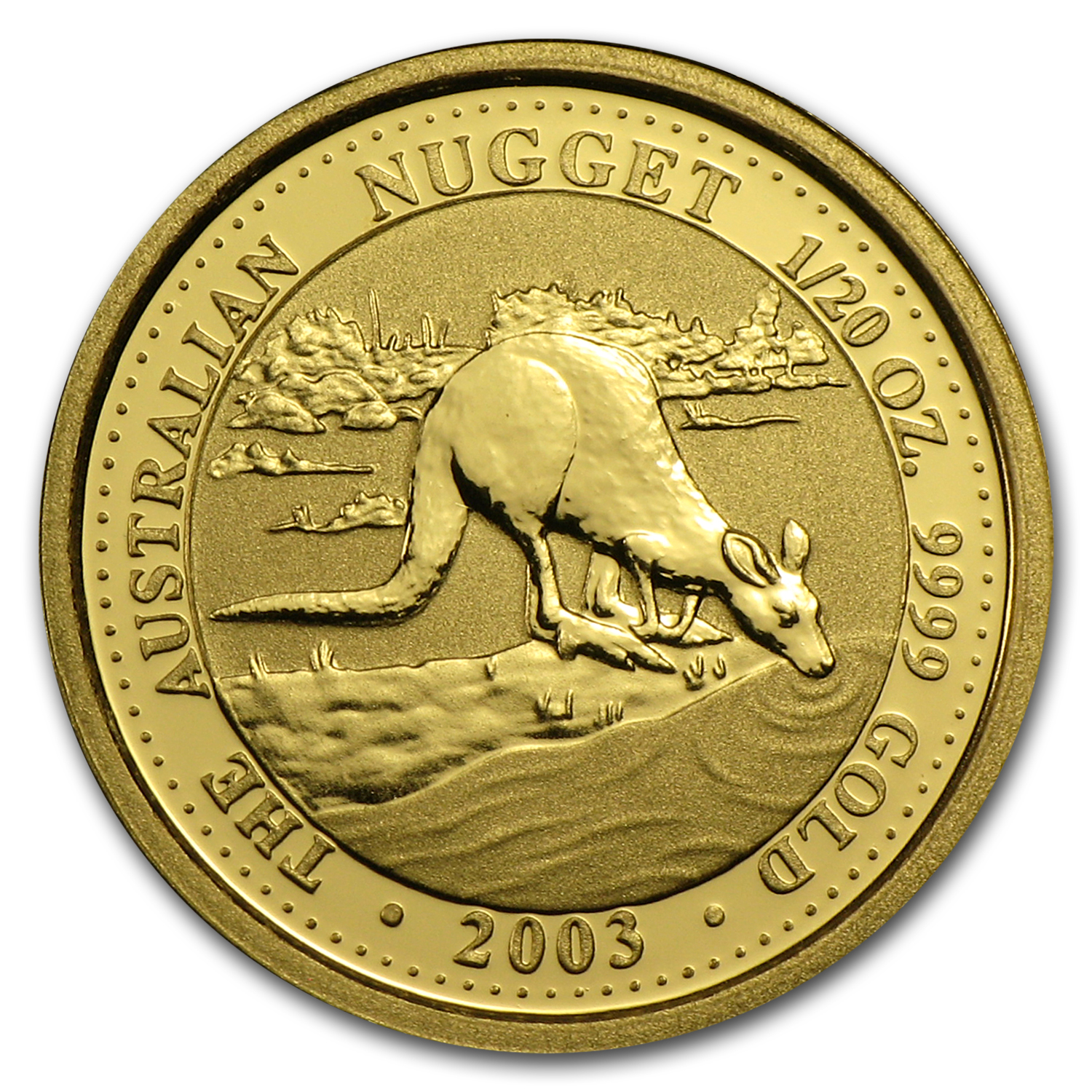 2003 Australia 1/20 oz Gold Nugget