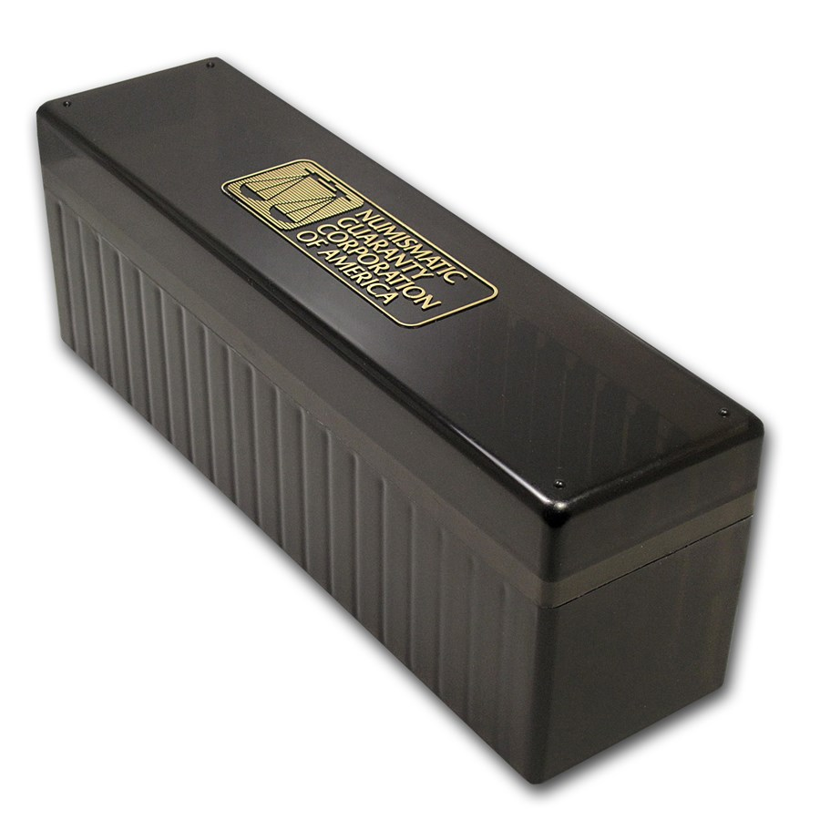 Vintage black ngc 20 coin storage boxes used recycled for Money storage box
