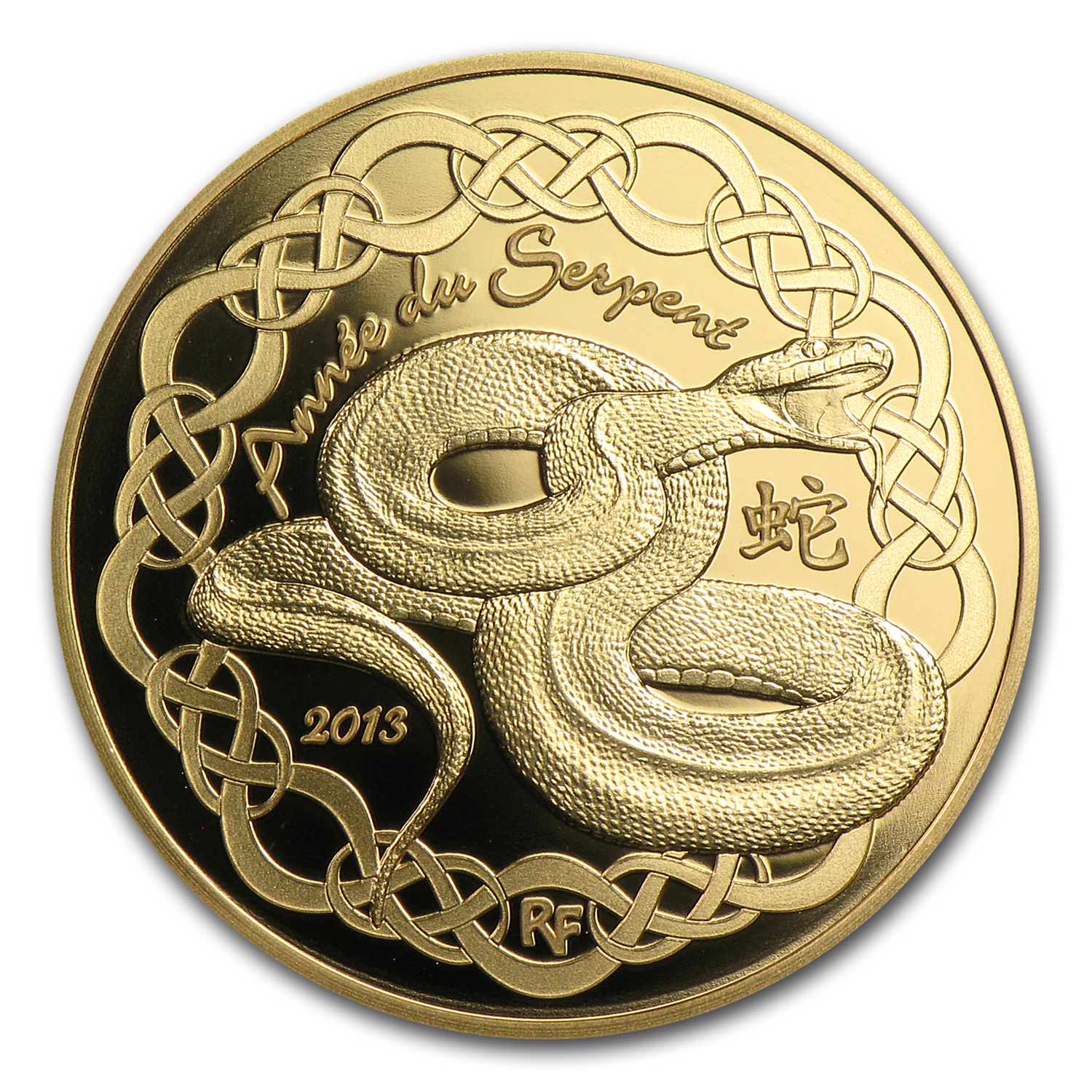 2013 1/4 oz Gold €50 Proof Year of the Snake - Lunar Series