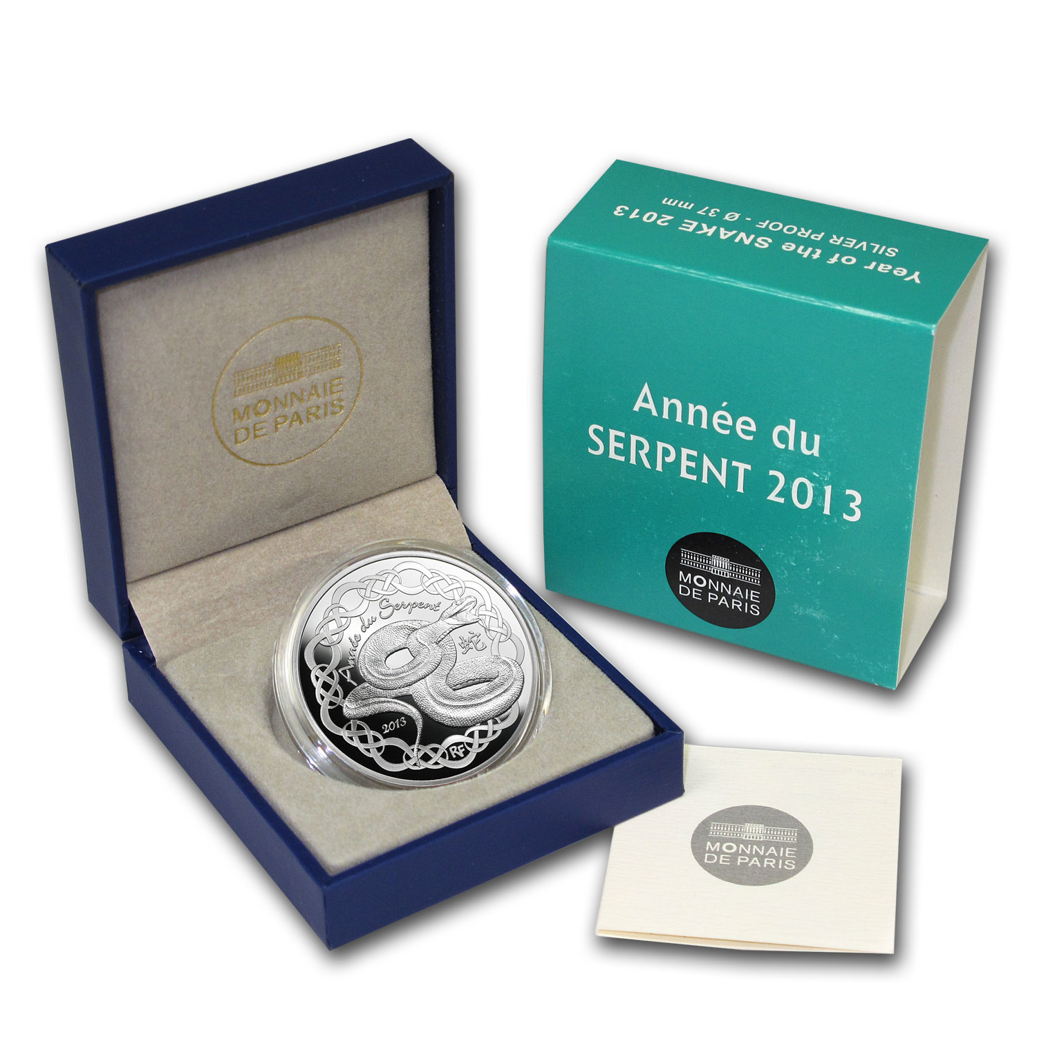 2013 €10 Silver Proof Year of the Snake - Lunar Series