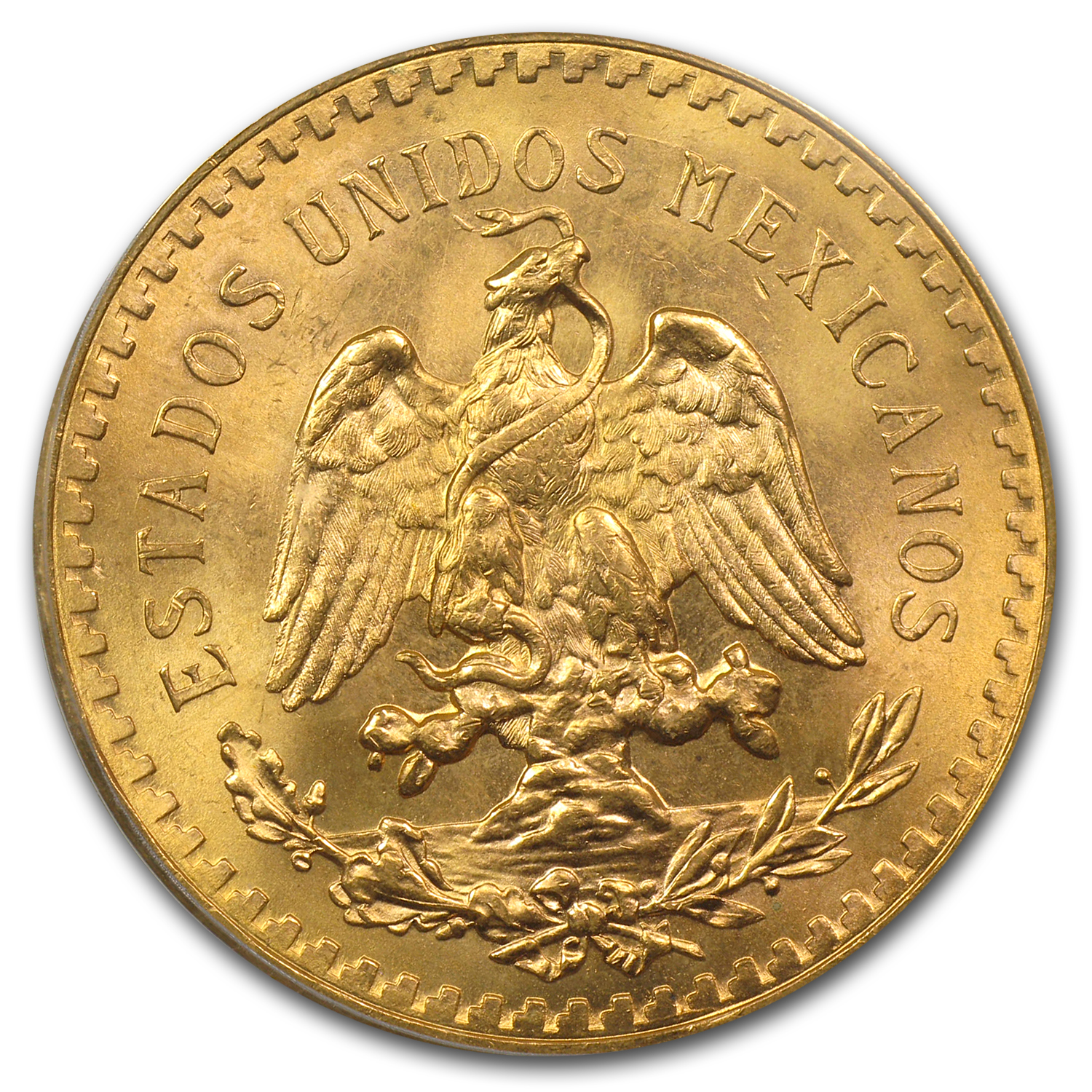 1947 Mexico Gold 50 Pesos MS-65 PCGS