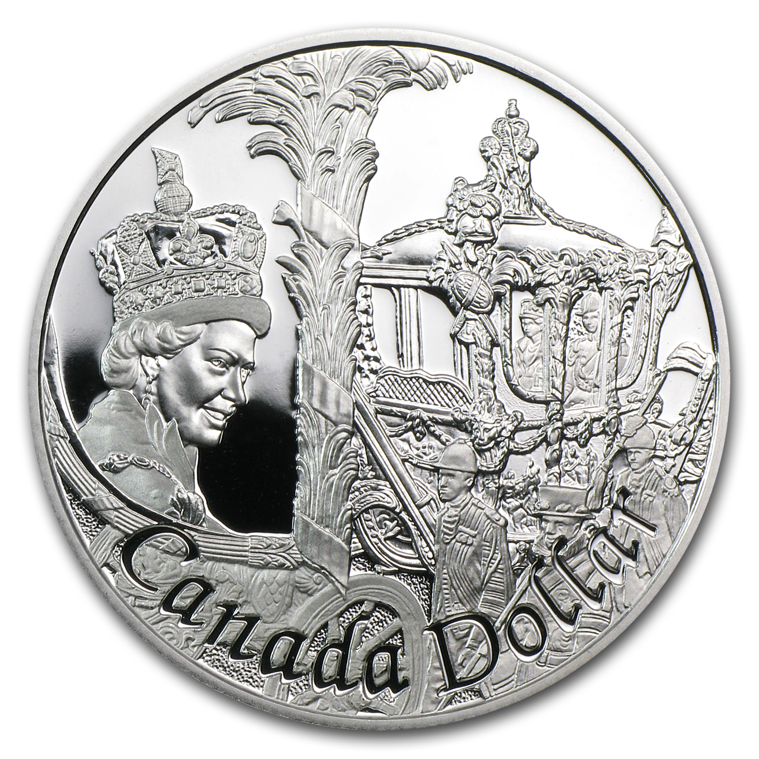 2002 Canada Silver $1 The Queen's Golden Jubilee Proof