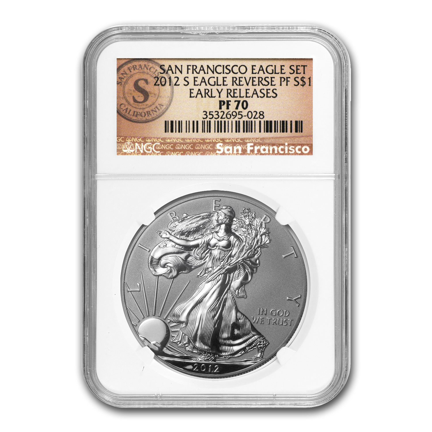 2012-S (2-Coin) Silver Eagle Set PF-70 NGC 75th Anniv (ER)