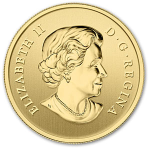 2013 1/10 oz Gold Canadian $5 - Lunar Year of the Snake