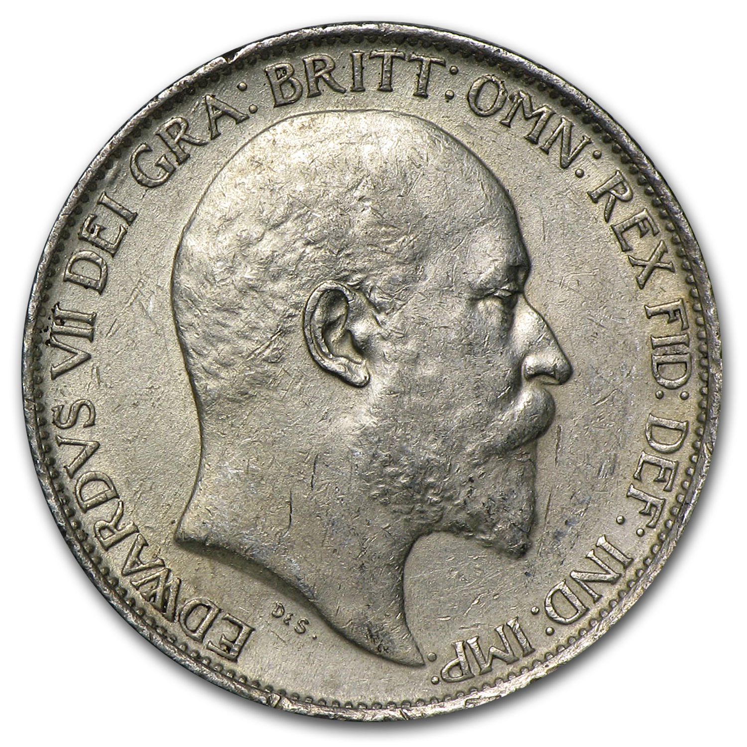 Great Britain 1905 Silver 6 Pence AU