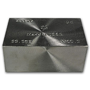 106.10 oz Russian Palladium Cube (.9998 Fine)