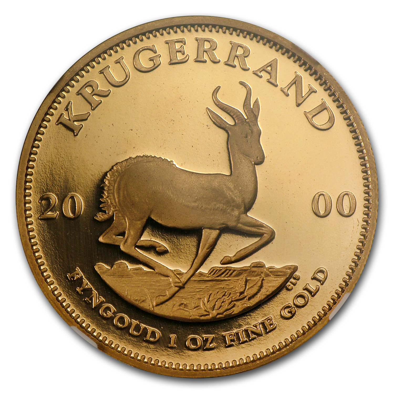 2000 1 oz Gold South African Krugerrand PF-69 NGC