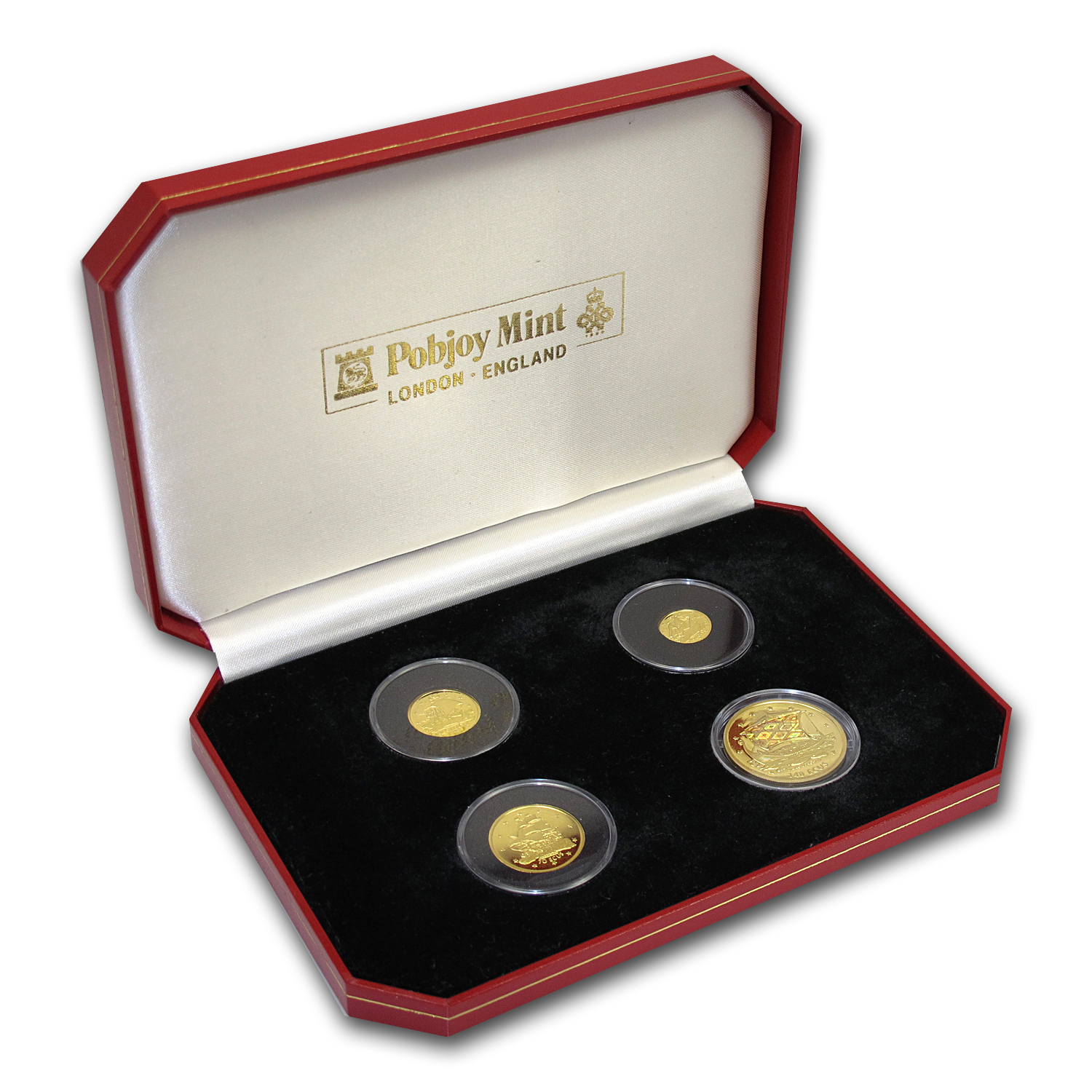 Gibraltar 1996 ECU 4 Coin Proof Set AGW 0.84