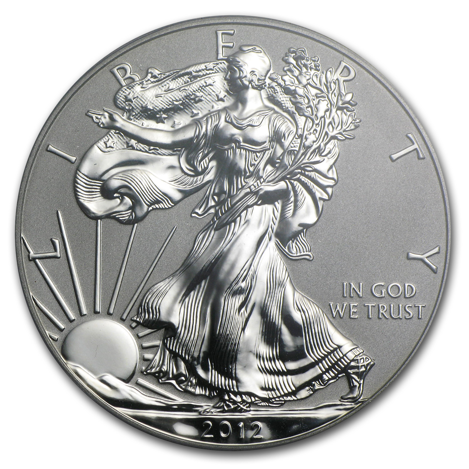 2012-S 1 oz Reverse Proof Silver Eagle (Capsule Only)