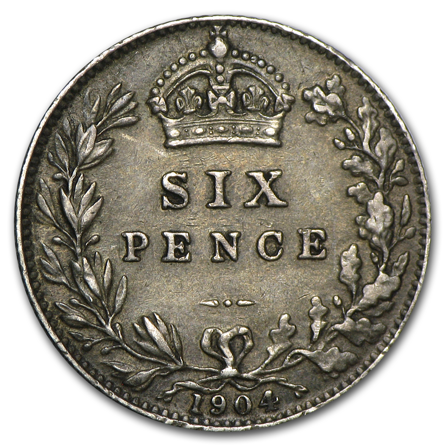 Great Britain 1904 Silver 6 Pence EF