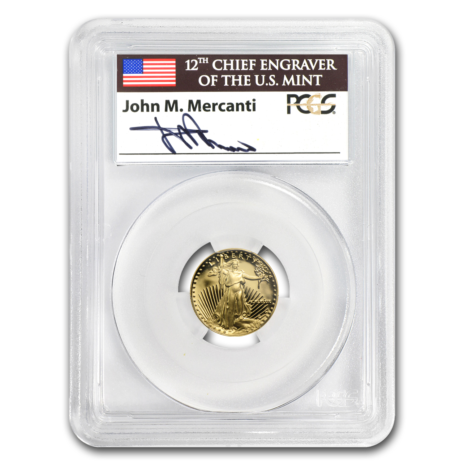 1988 - 2012 1/10 oz Proof Gold Eagle PCGS PR-69 John Mercanti Set