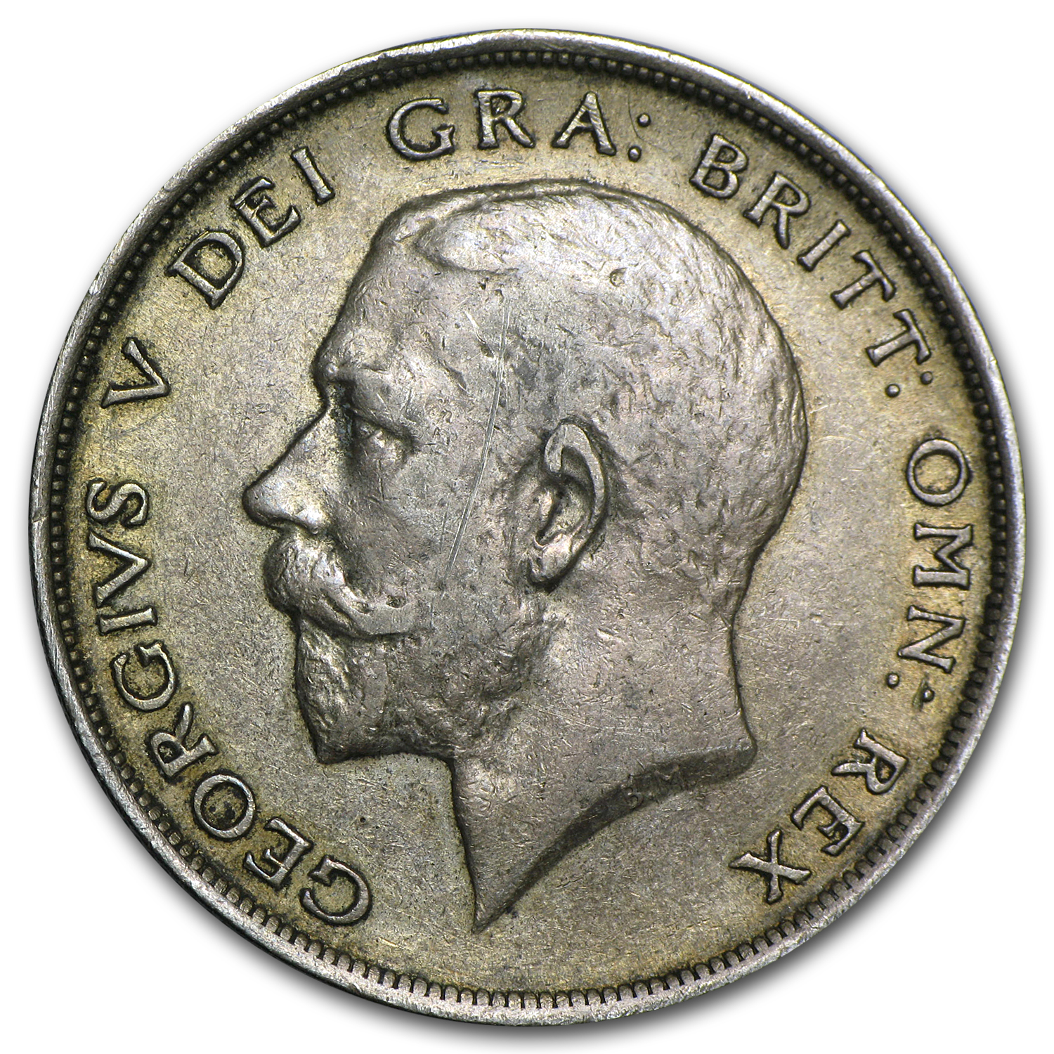 1913 Great Britain Silver 1/2 Crown George V EF