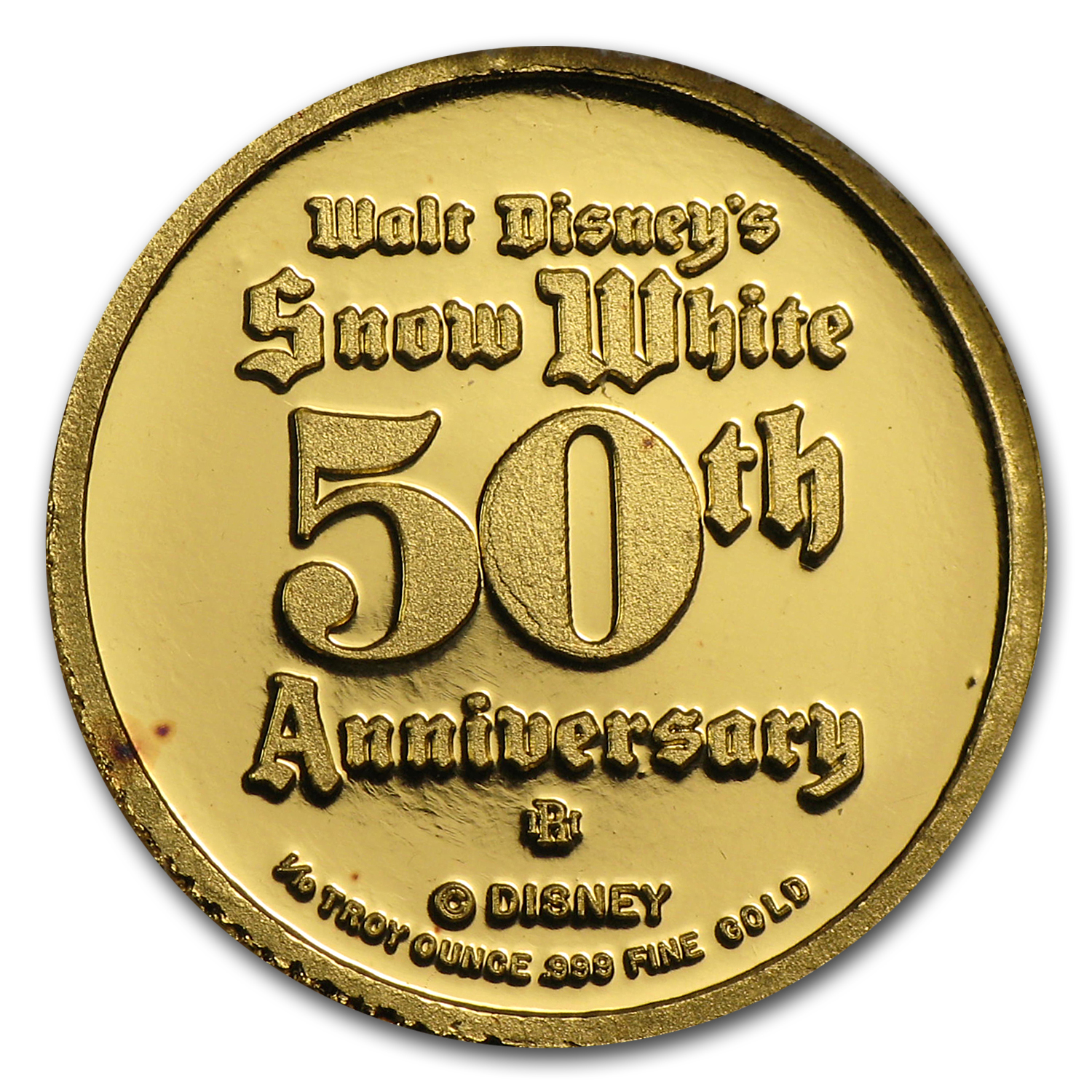 1/10 oz Gold Rounds - Disney Snow White 50th Anniv (Snow White)