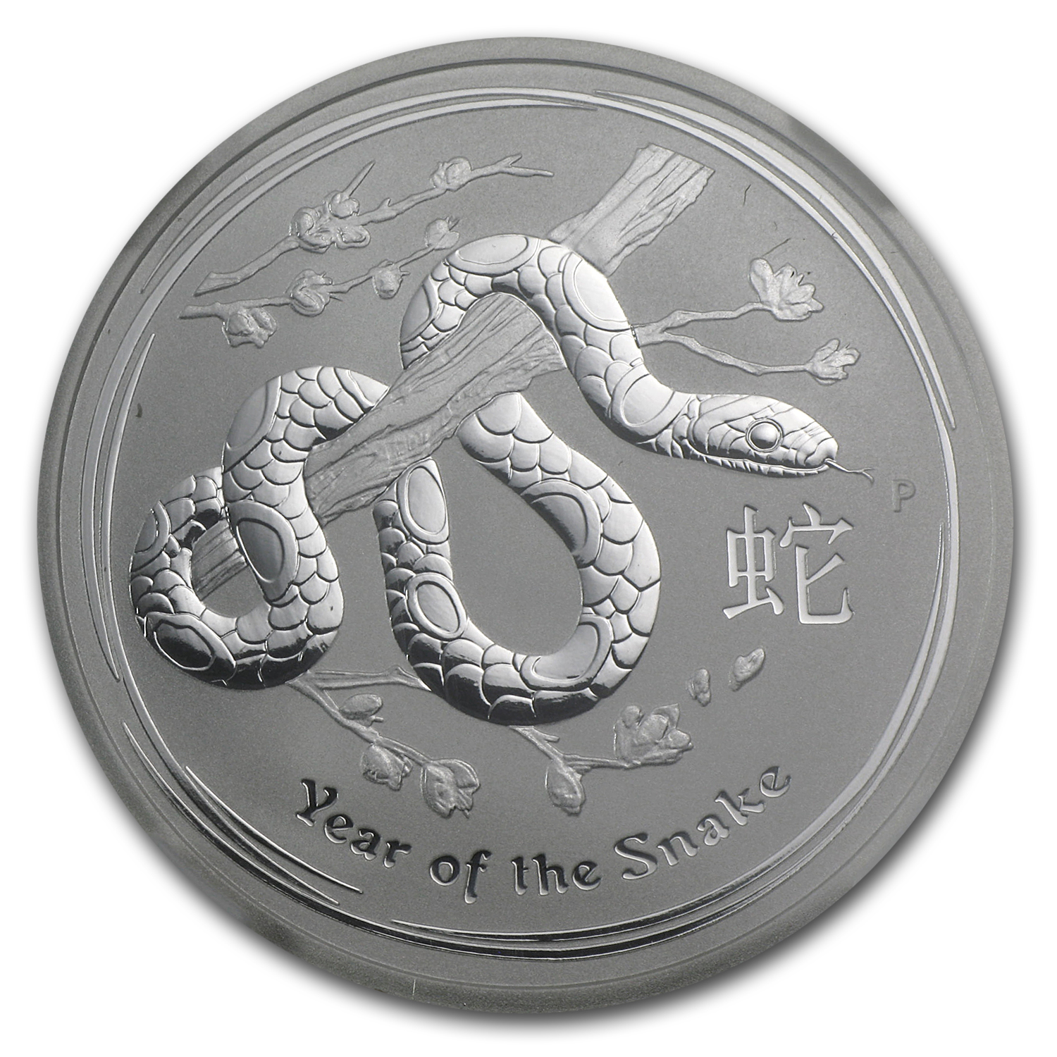 2013 Australia 1/2 oz Silver Year of the Snake MS-70 NGC (ER)