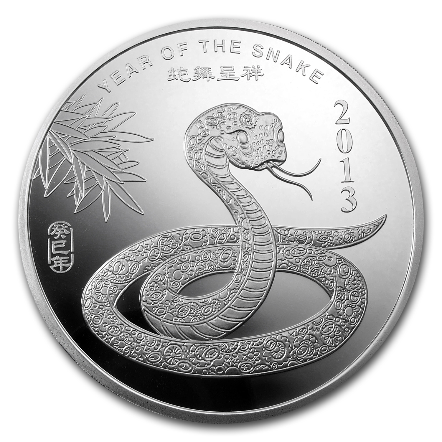 10 oz APMEX 2013 Year of the Snake Silver Round .999 Fine