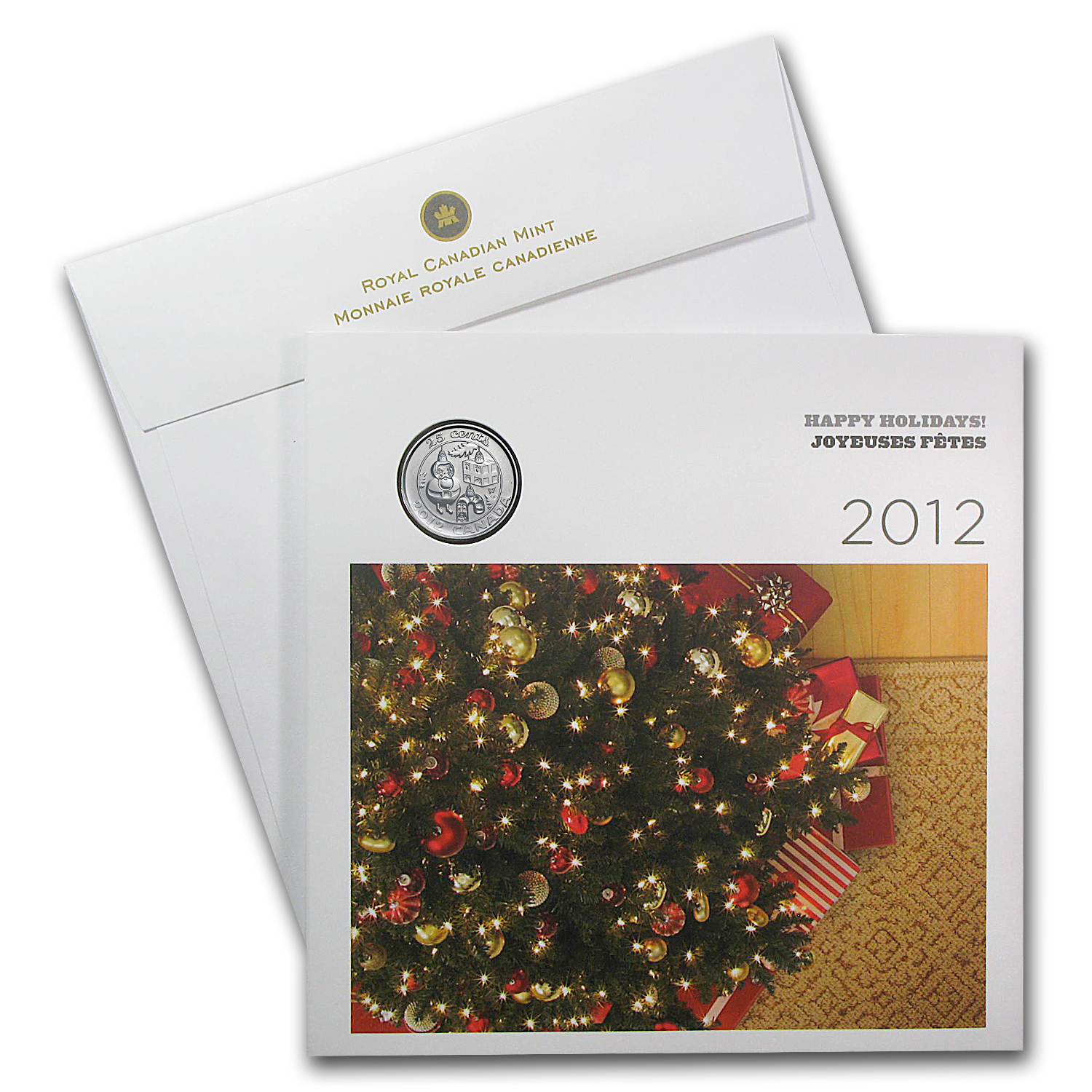 2012 Holiday 6-Coin Gift Set With Ornament Quarter & Card - RCM