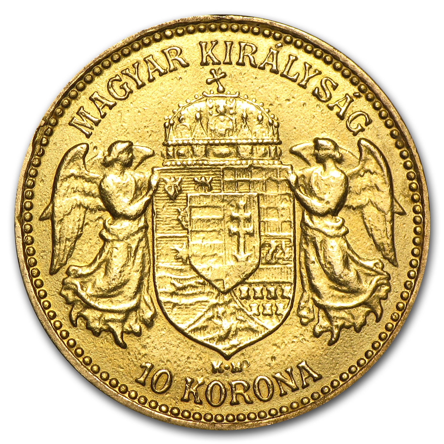 Hungary Gold 10 Korona (Ex-Jewelry) AGW .0980