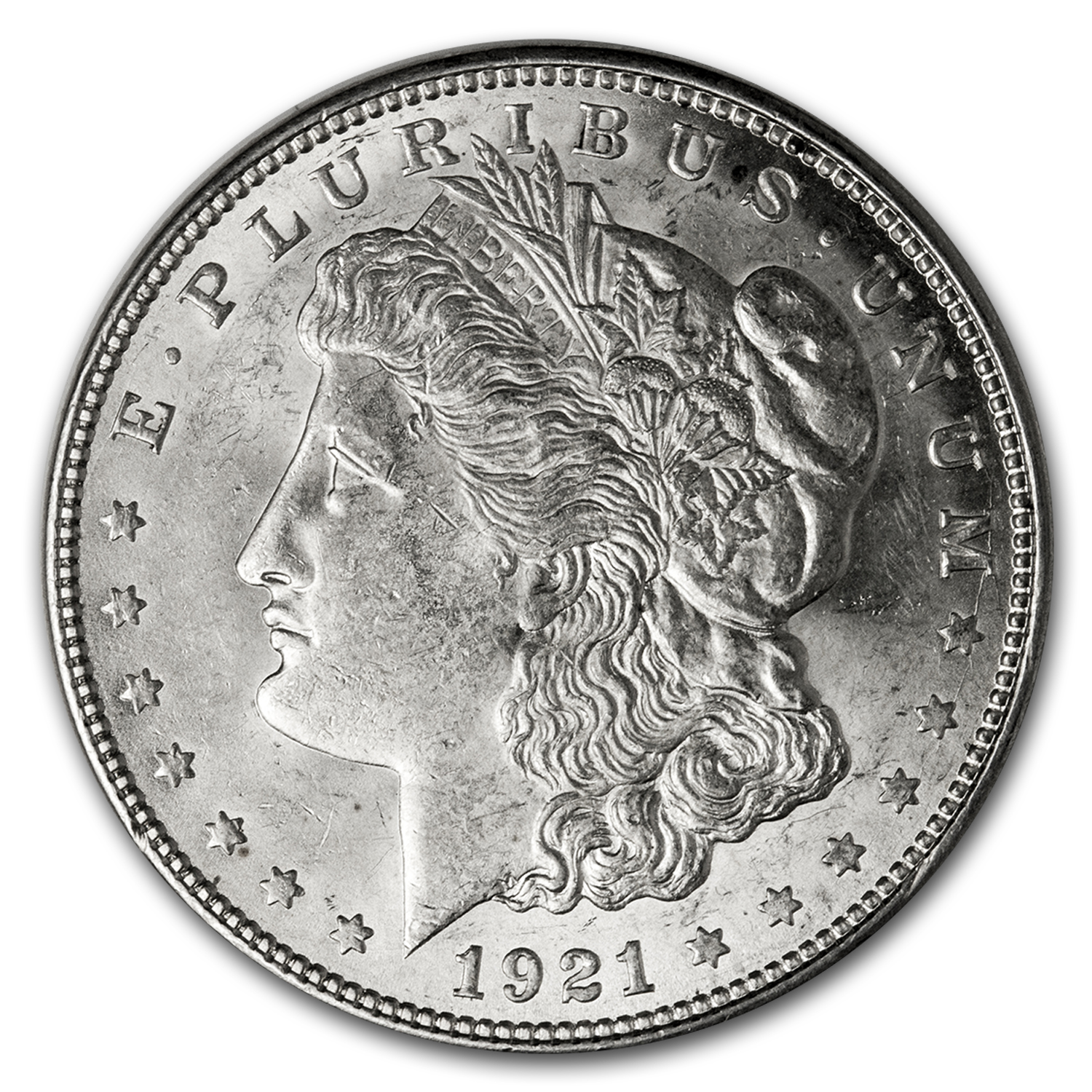1921-D Morgan Dollar AU