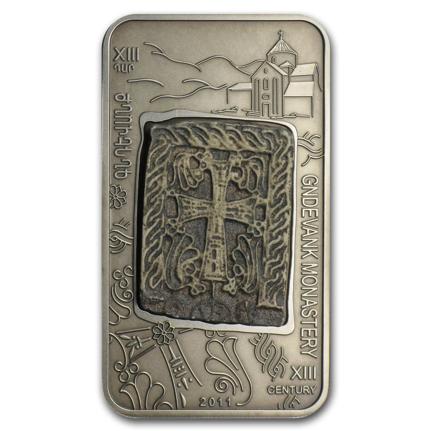 2011 Armenia 1000 Dram Cross-Stones of Armenia The Gndevank