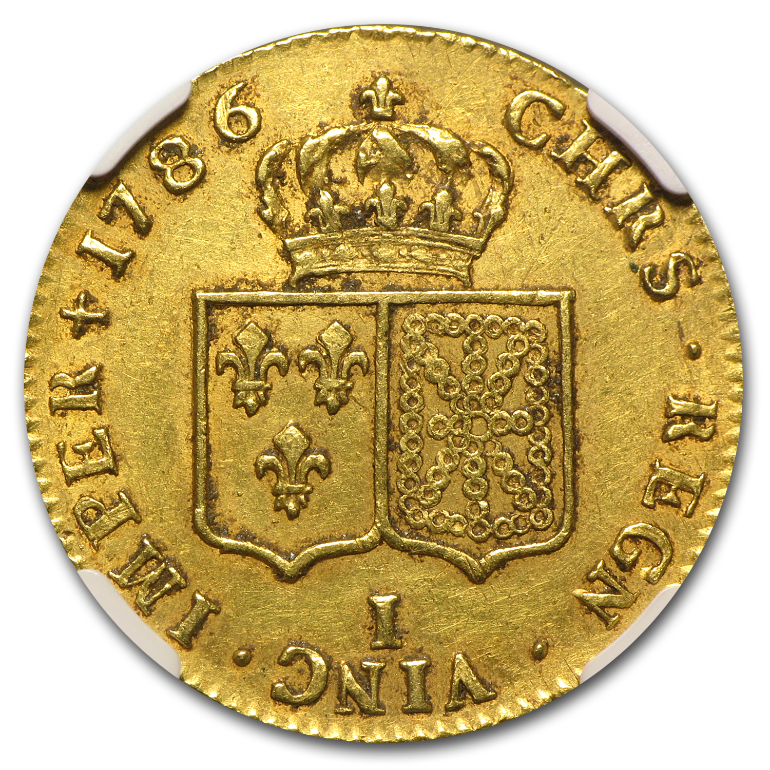 1786-I France Gold 2 Louis D'or AU-53 NGC