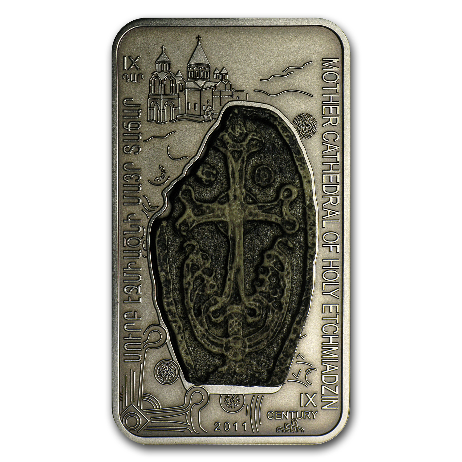 2011 Armenia 1000 Dram Cross-Stones of Armenia The Etchmiadzin