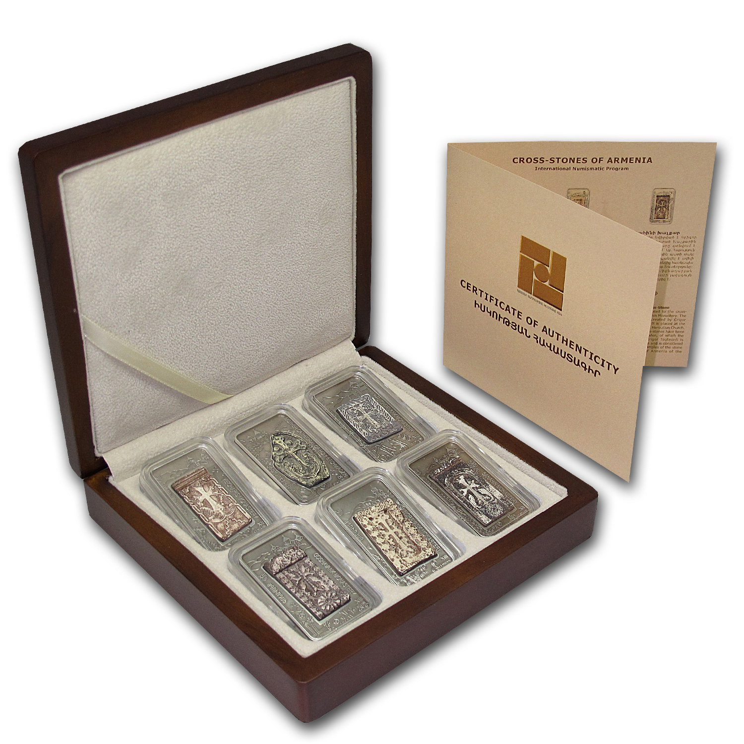 2011 Armenia 6-Coin 1000 Dram Cross-Stones of Armenia Set