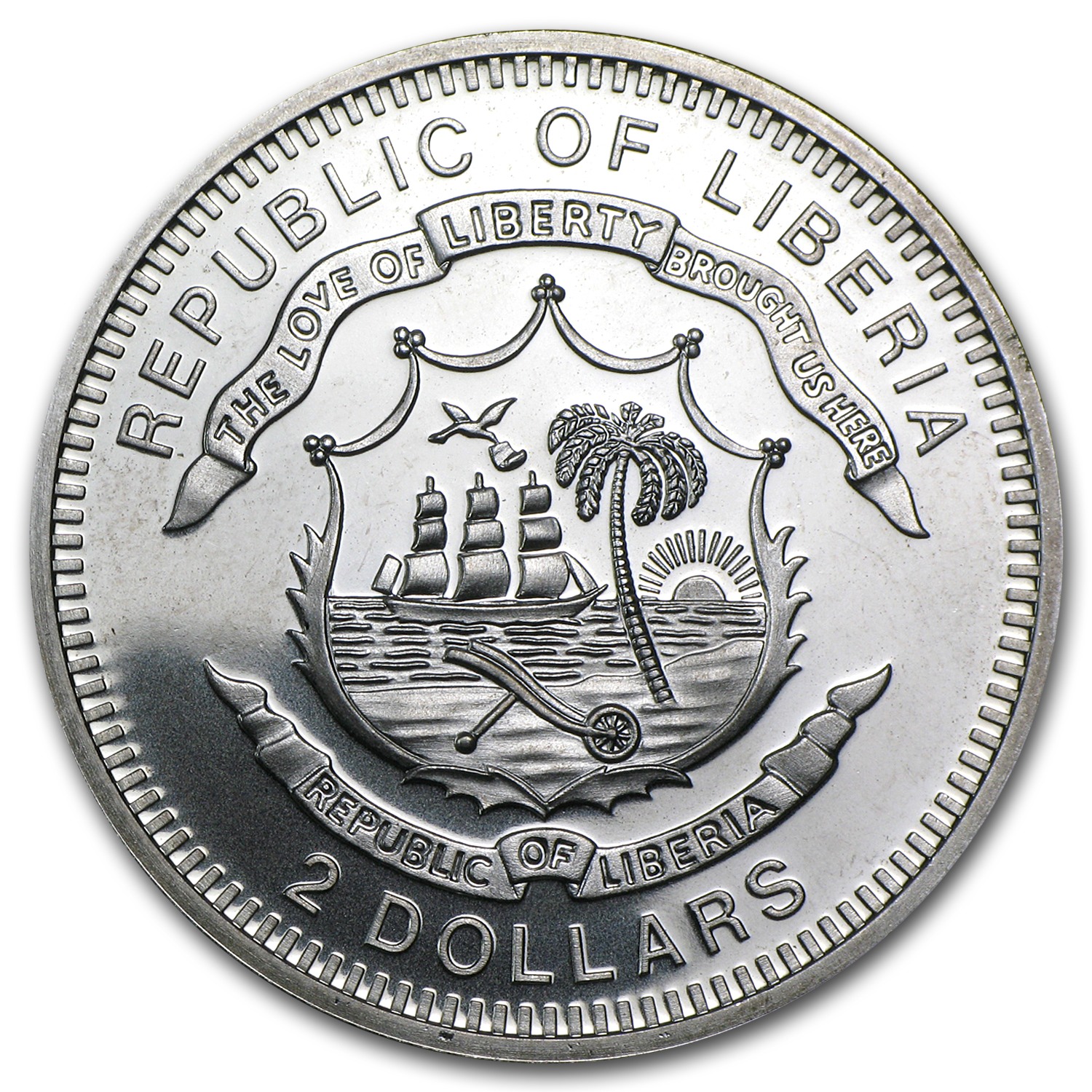 2012 Liberia $2 Christmas Horse 1/2 oz Silver Coin (Colorized)