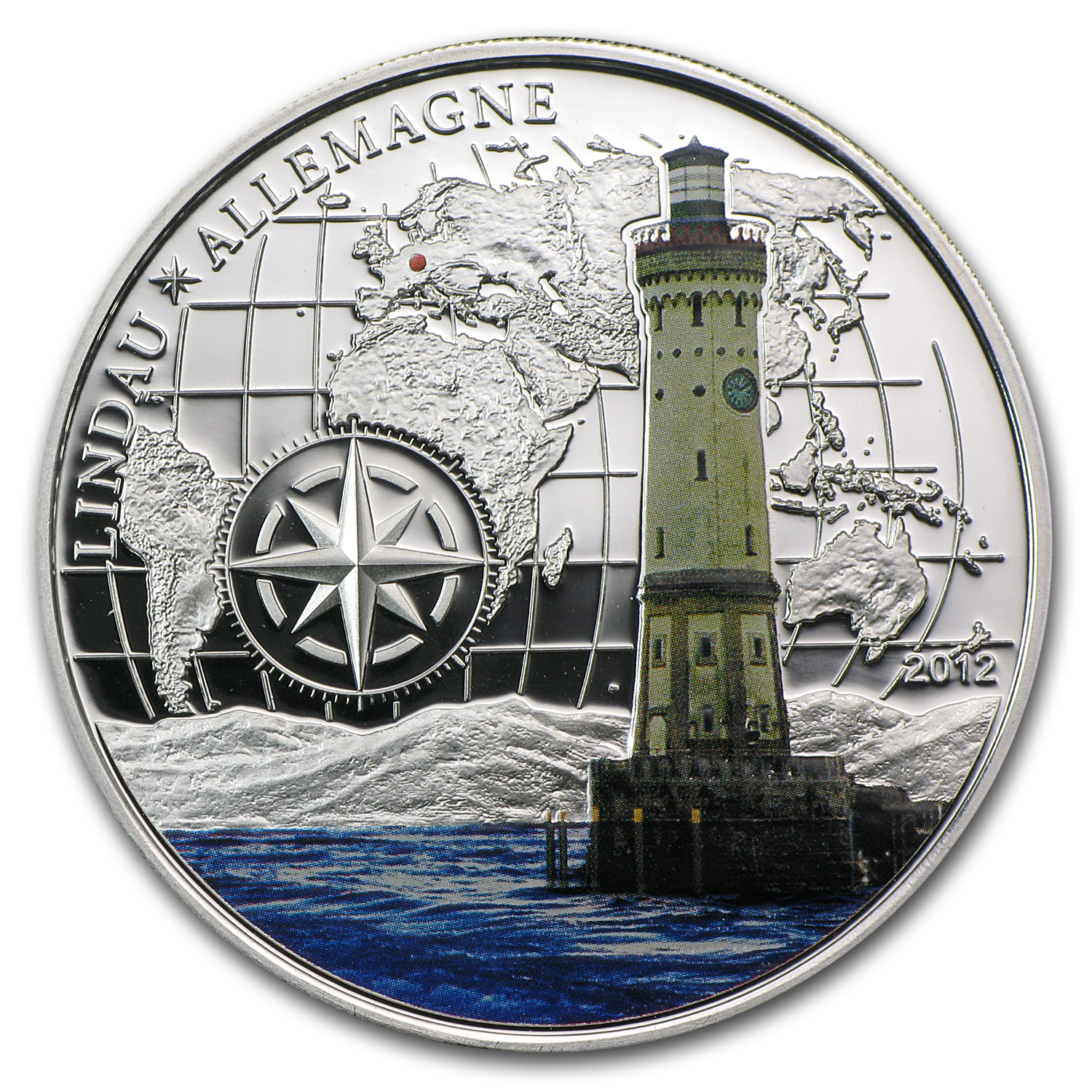 2012 Benin 1000 Francs CFA Lighthouse Lindau