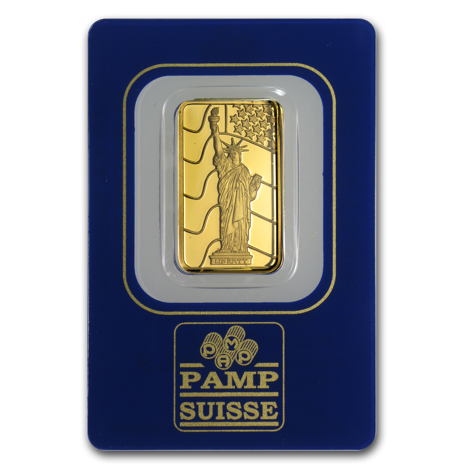 5 gram Gold Bar - Pamp Suisse Statue of Liberty
