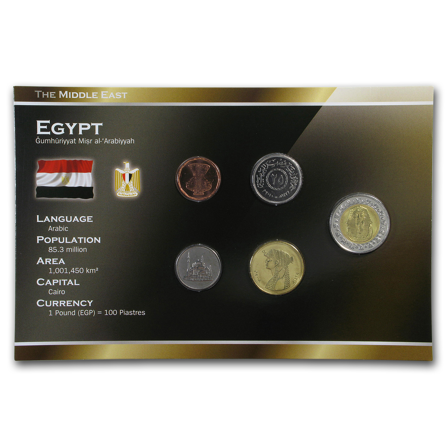 Egypt 1984-2010 1 Piastre-1 Pound Coin Set BU