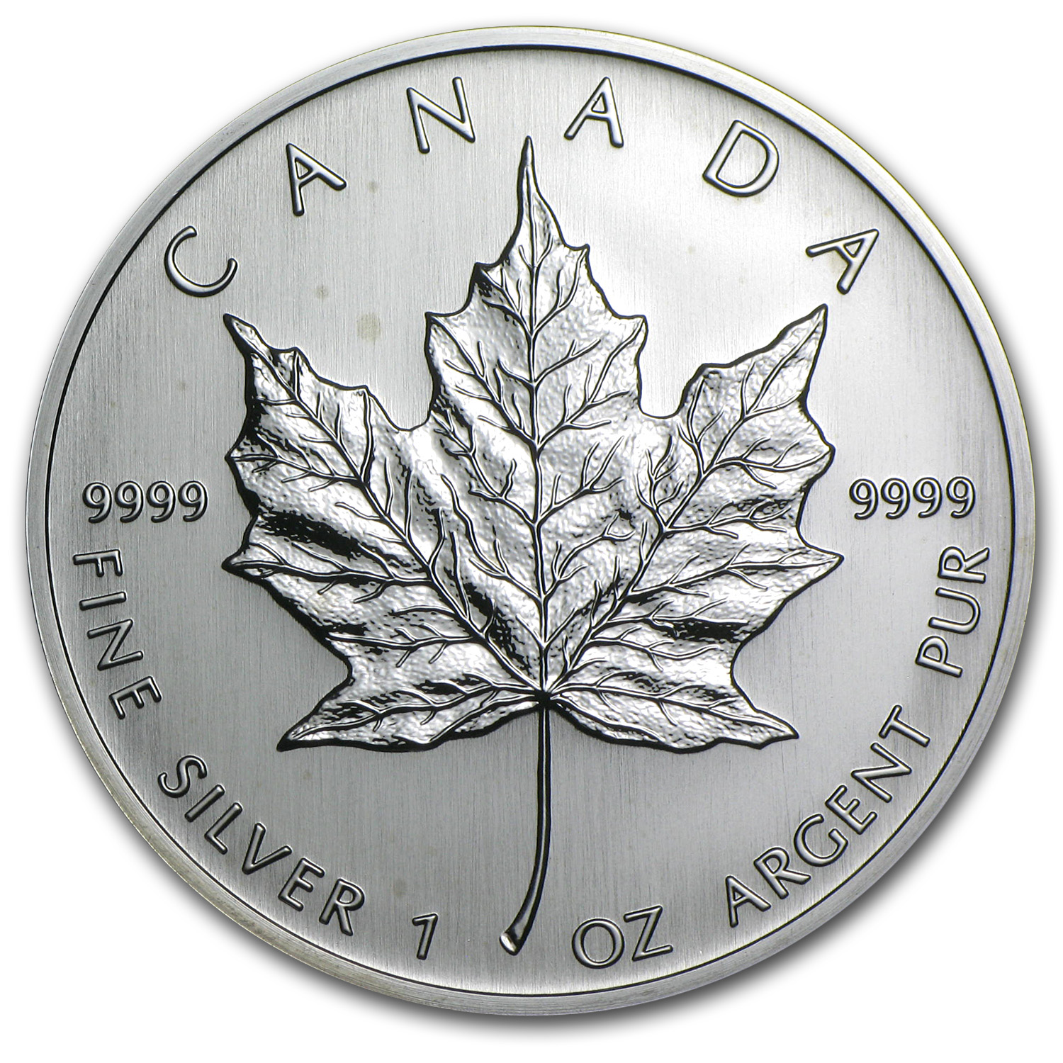 2004 1 oz Silver Canadian Maple Leaf BU