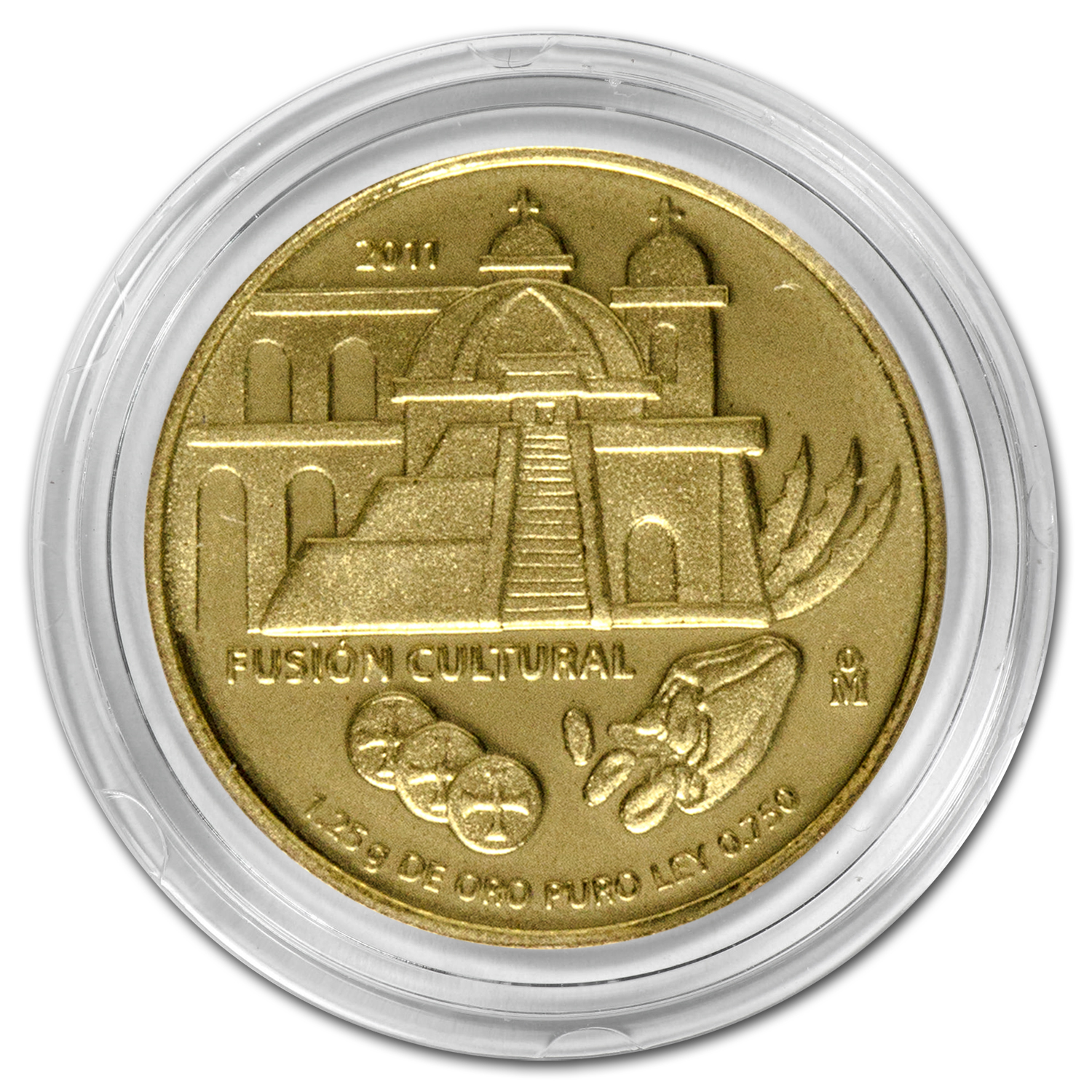 2011 Mexico Gold La Arquitectura Proof (No Box)