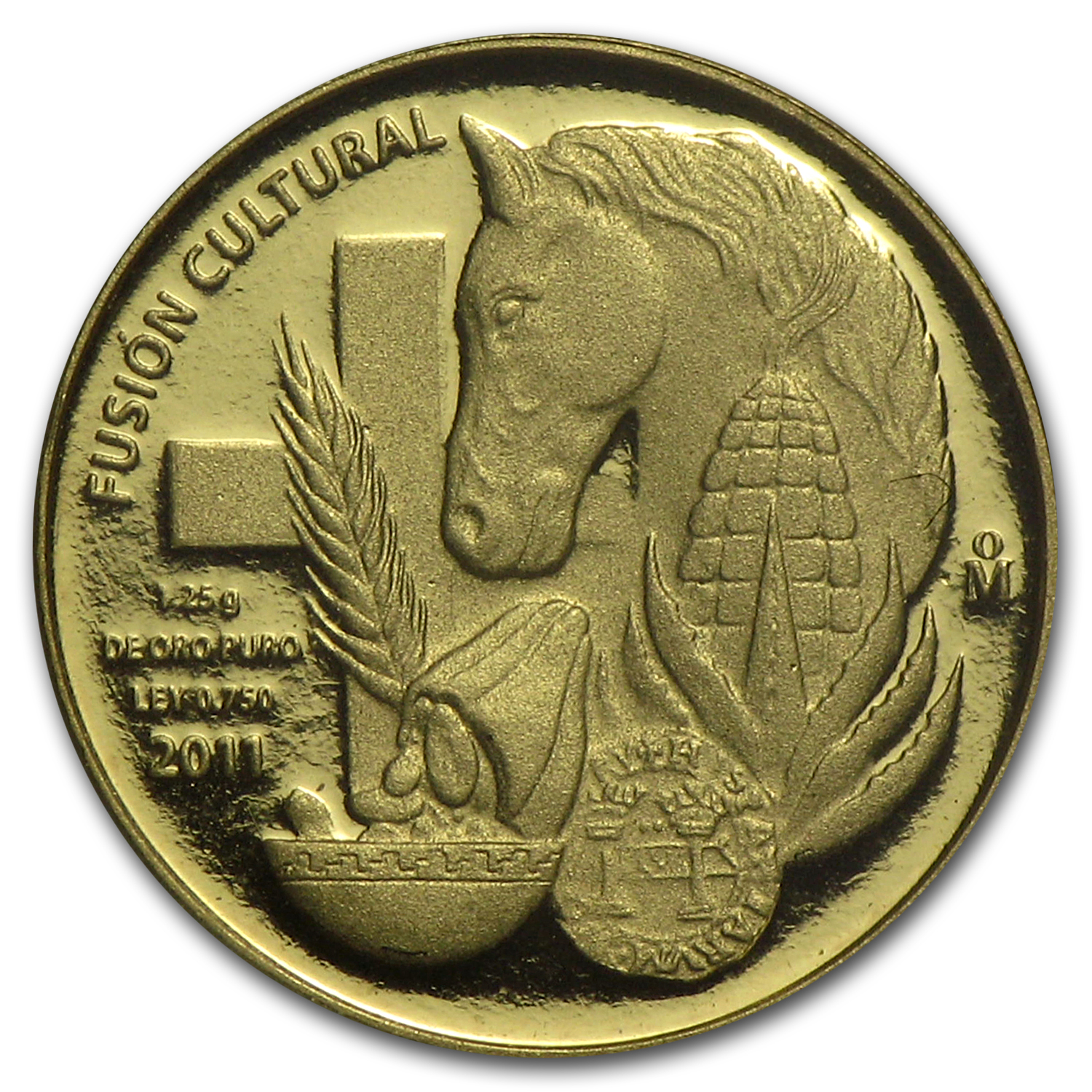 2011 Mexico Gold La Mercancía Proof (w/cacao bean case)
