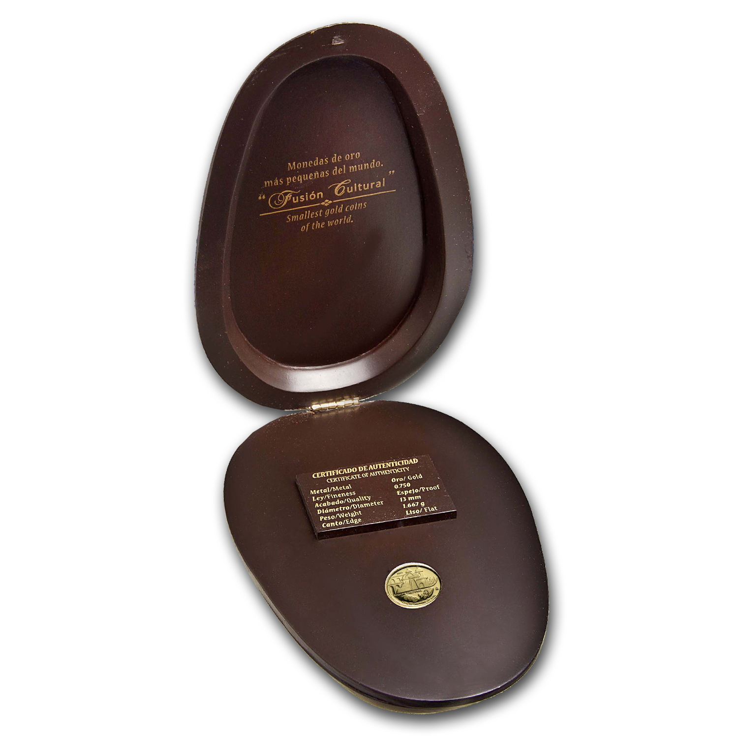 2011 Mexico Gold La Arquitectura Proof (Cacao bean case)