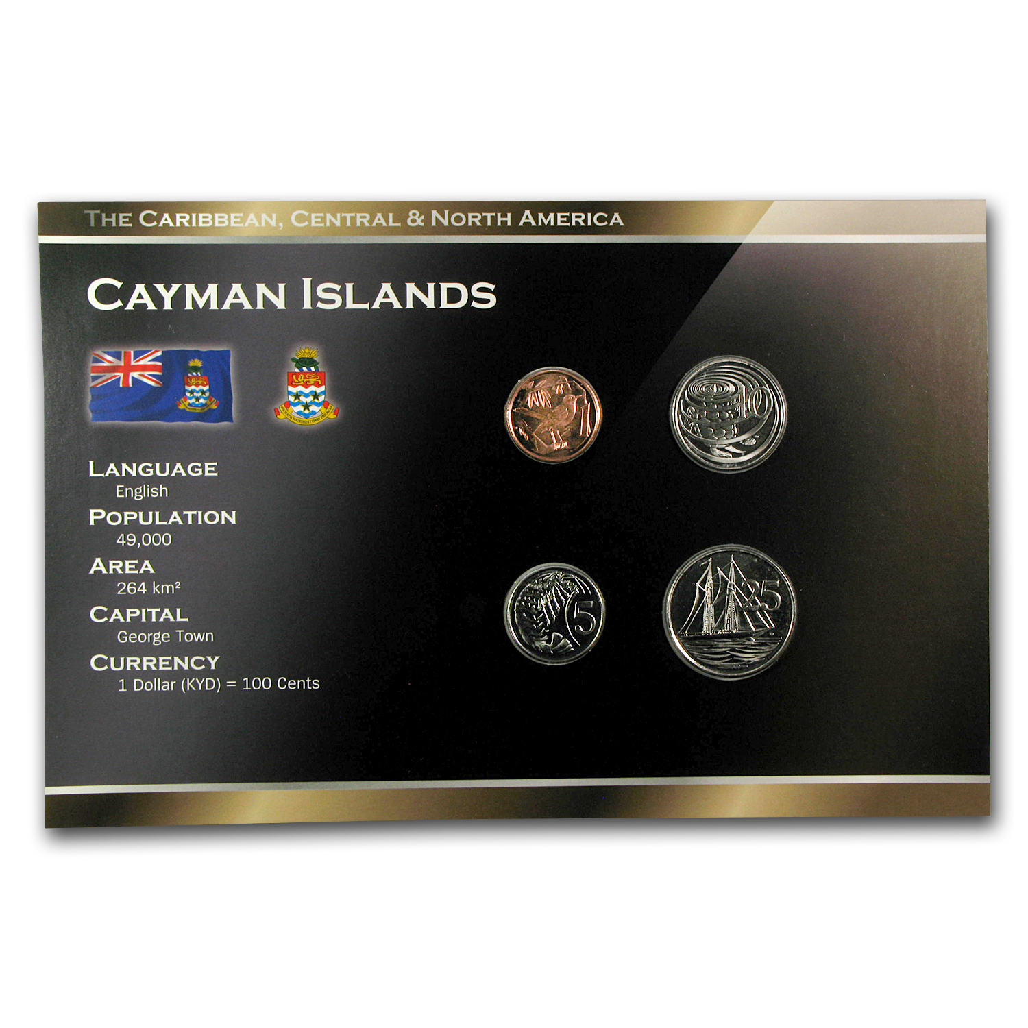 1999-2008 Cayman Islands 1-25 Cents Coin Set BU