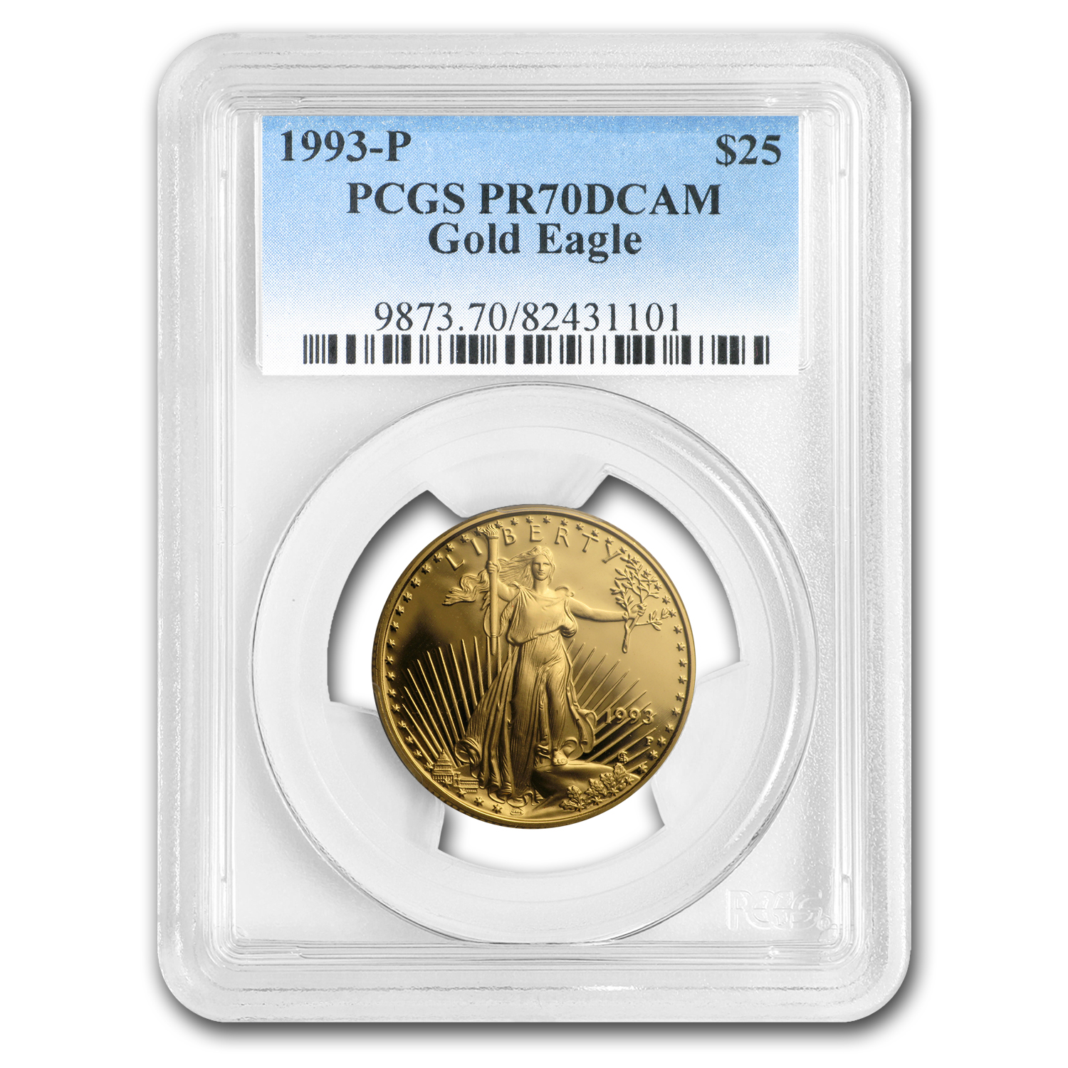 1993-P 1/2 oz Proof Gold American Eagle PF-70 NGC (Registry Set)