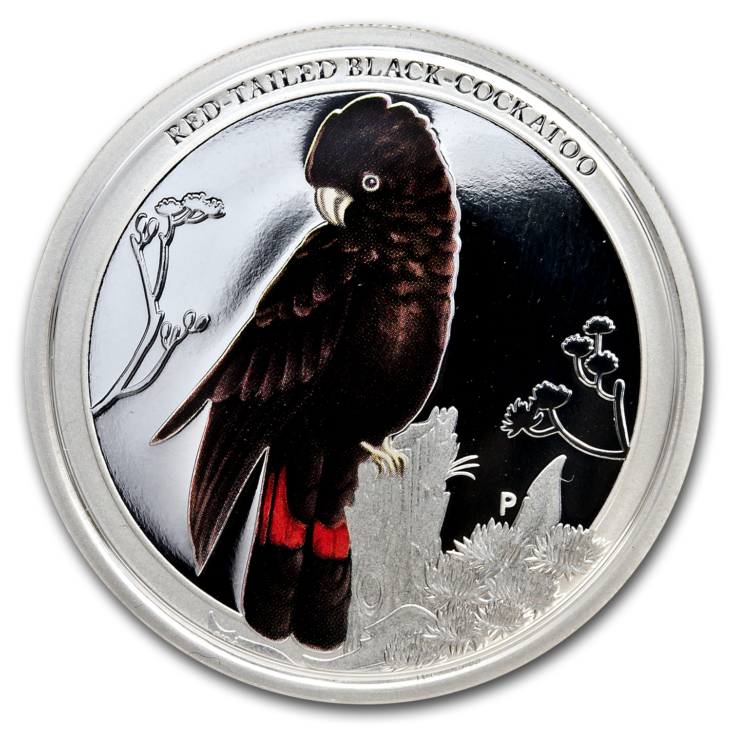 2013 1/2 oz Silver Red Tailed Black Cockatoo - Birds of Australia