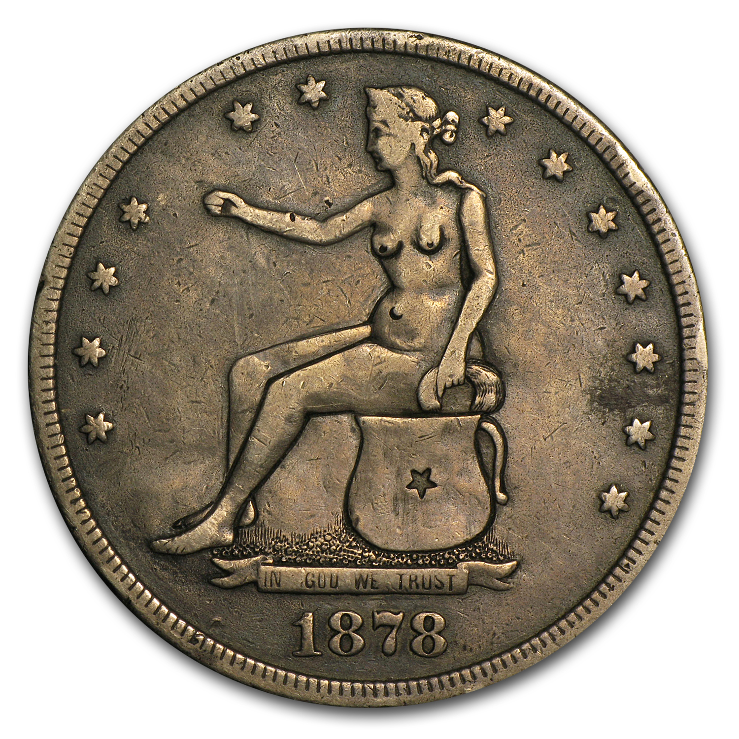 1878-S Trade Dollar Potty Dollar