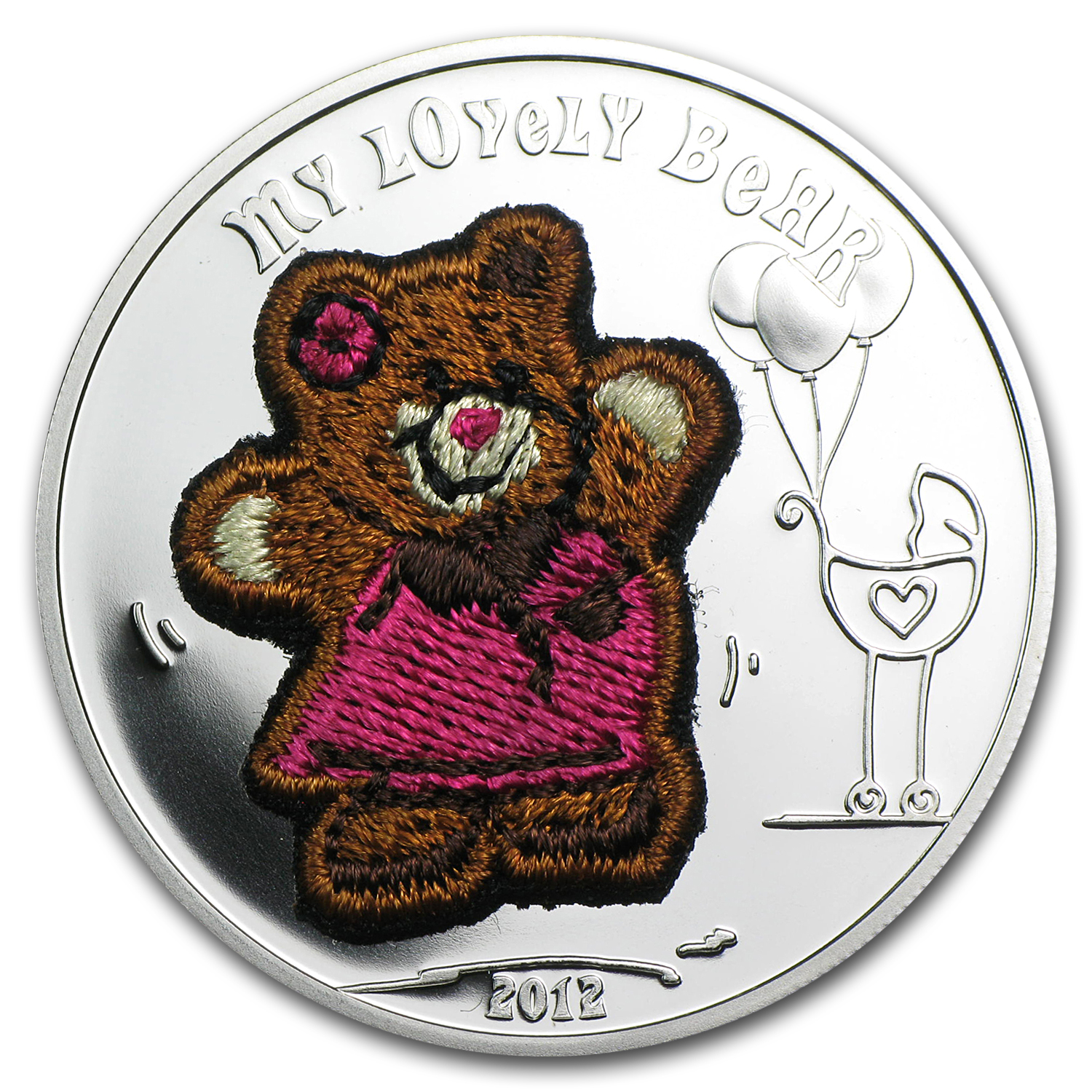 Palau 2012 Proof Silver $5 My Lovely Bear