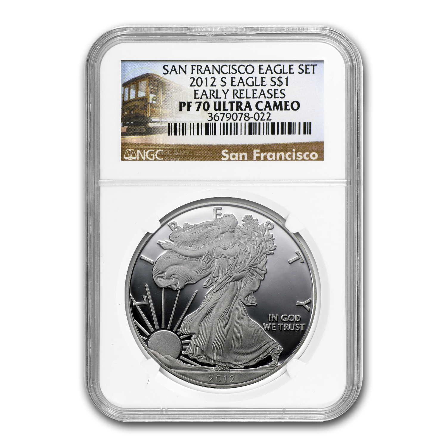 2012-S Proof Silver American Eagle PF-70 NGC (ER, 75th Anniv)
